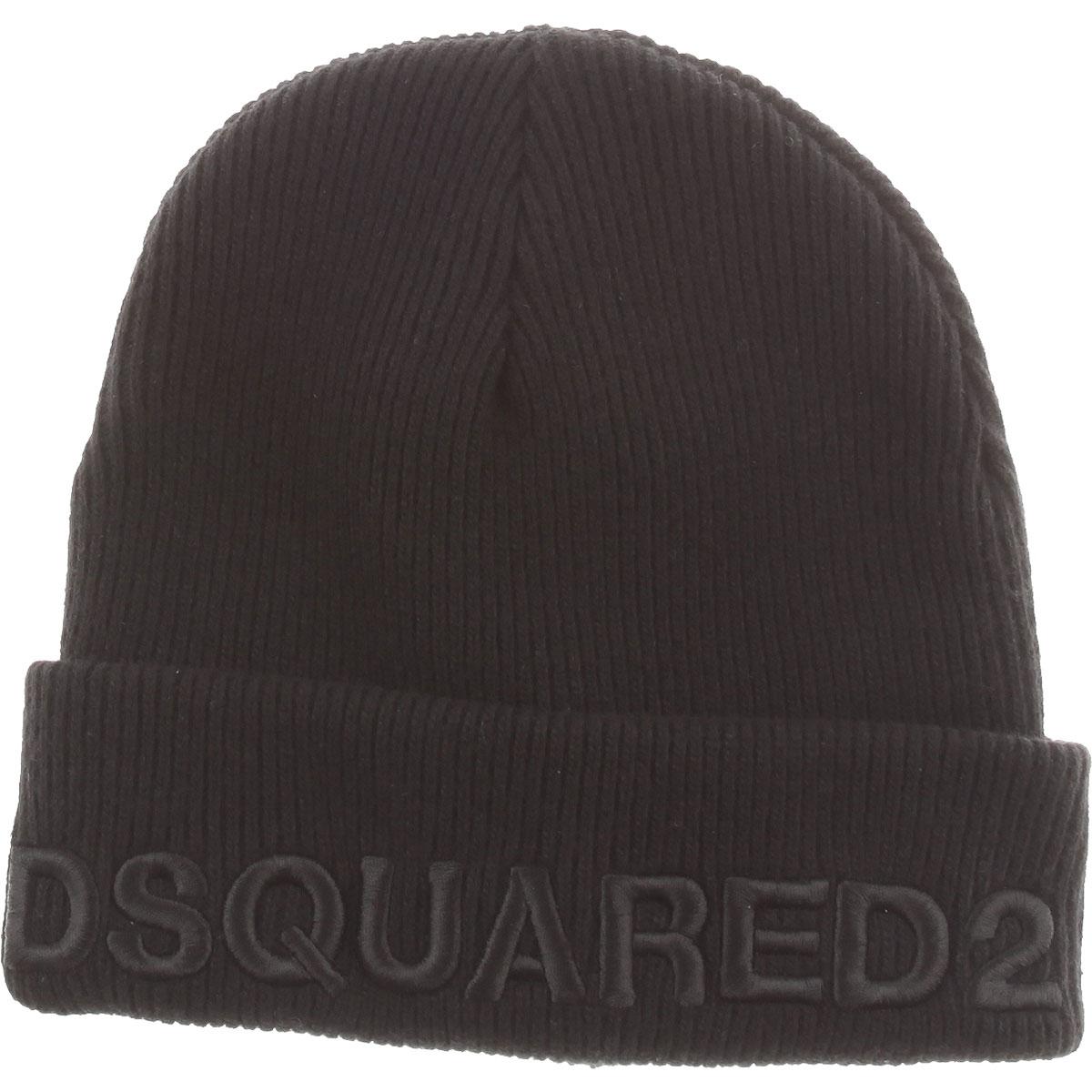 Image of Dsquared2 Kids Hats for Boys, Black, Wool, 2017, I II III