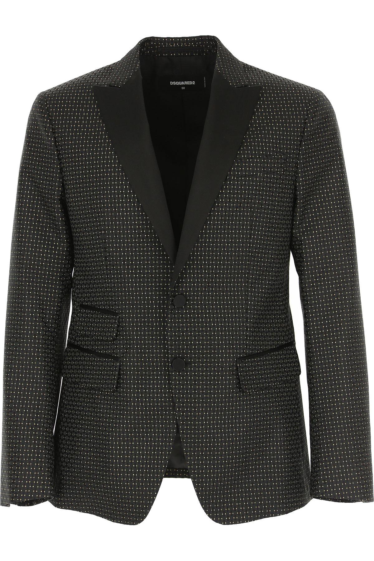 Dsquared2 Blazer for Men, Sport Coat, Black, polyester, 2019, L XL