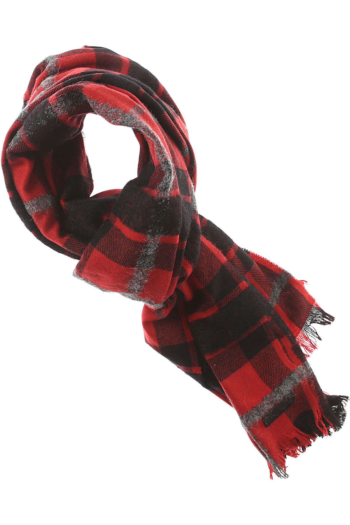 Dsquared2 Scarf for Men On Sale in Outlet, Red, Wool, 2019