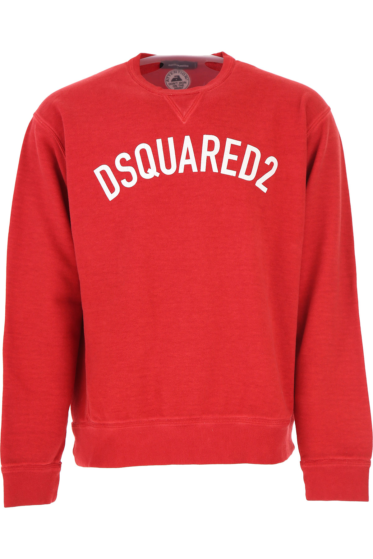 Dsquared2 Sweatshirt for Men, Red, Cotton, 2017, L XL USA-479924