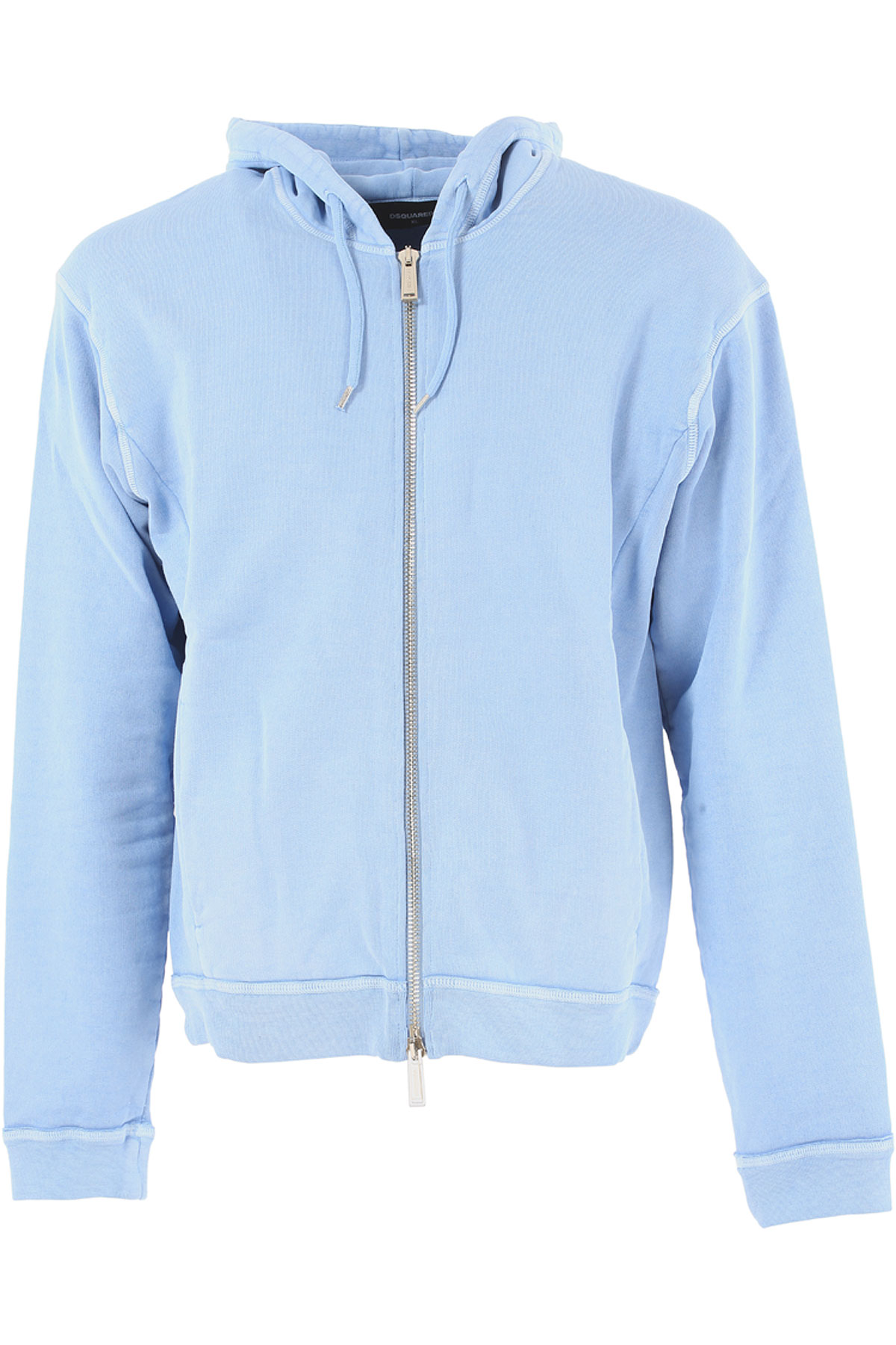 Dsquared2 Sweatshirt for Men On Sale in Outlet, Skyblue, Cotton, 2017, M XL USA-384954