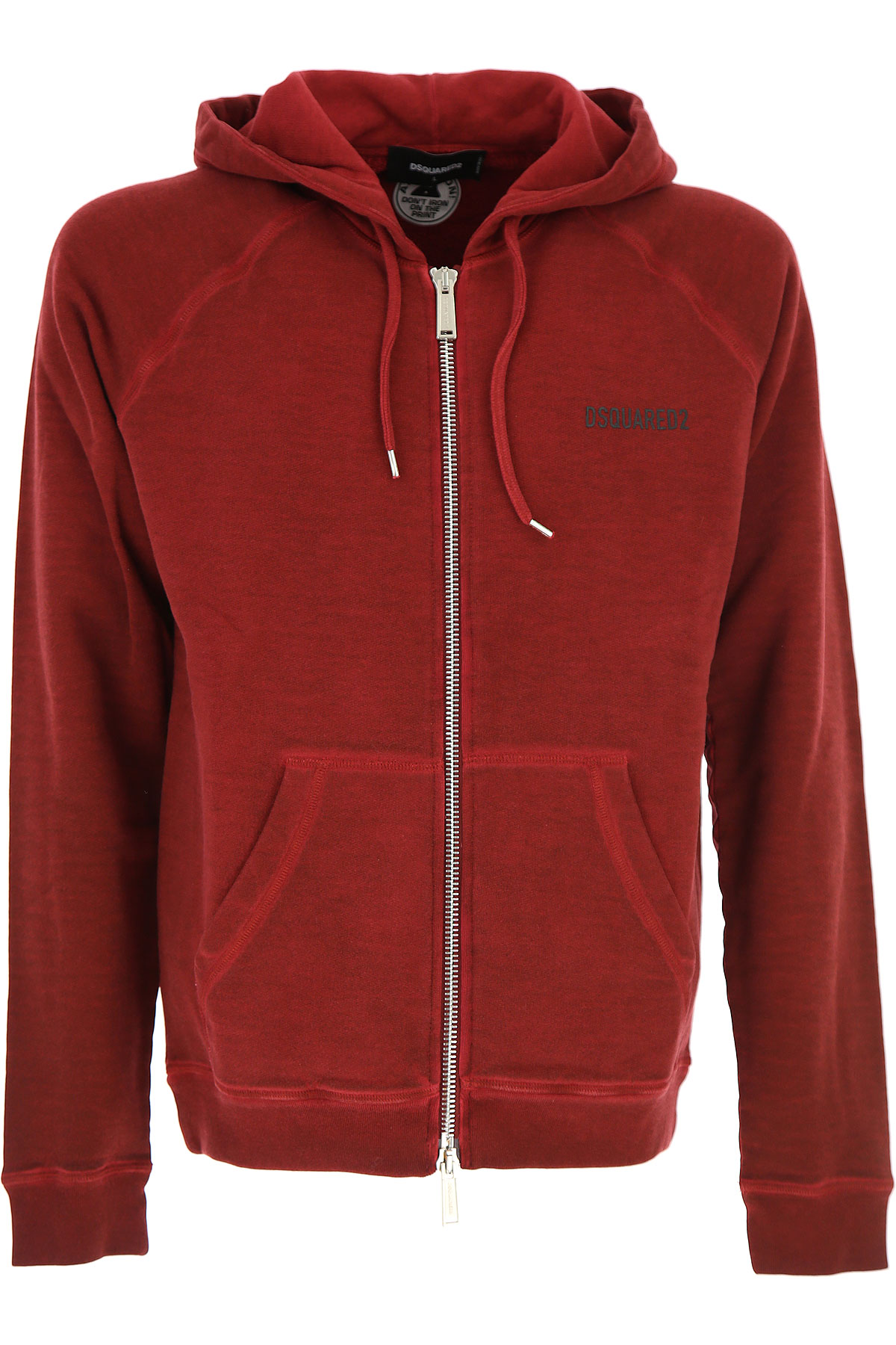 Dsquared2 Sweatshirt for Men On Sale, Red, Cotton, 2017, L M S USA-431309