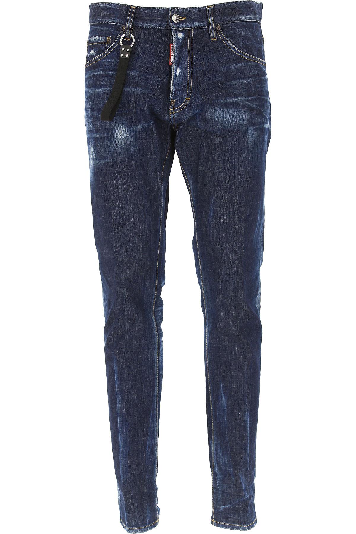 Dsquared2 Jeans, Cool Guy Jean, Denim Blue, Cotton, 2017, 28 30 32 34 36