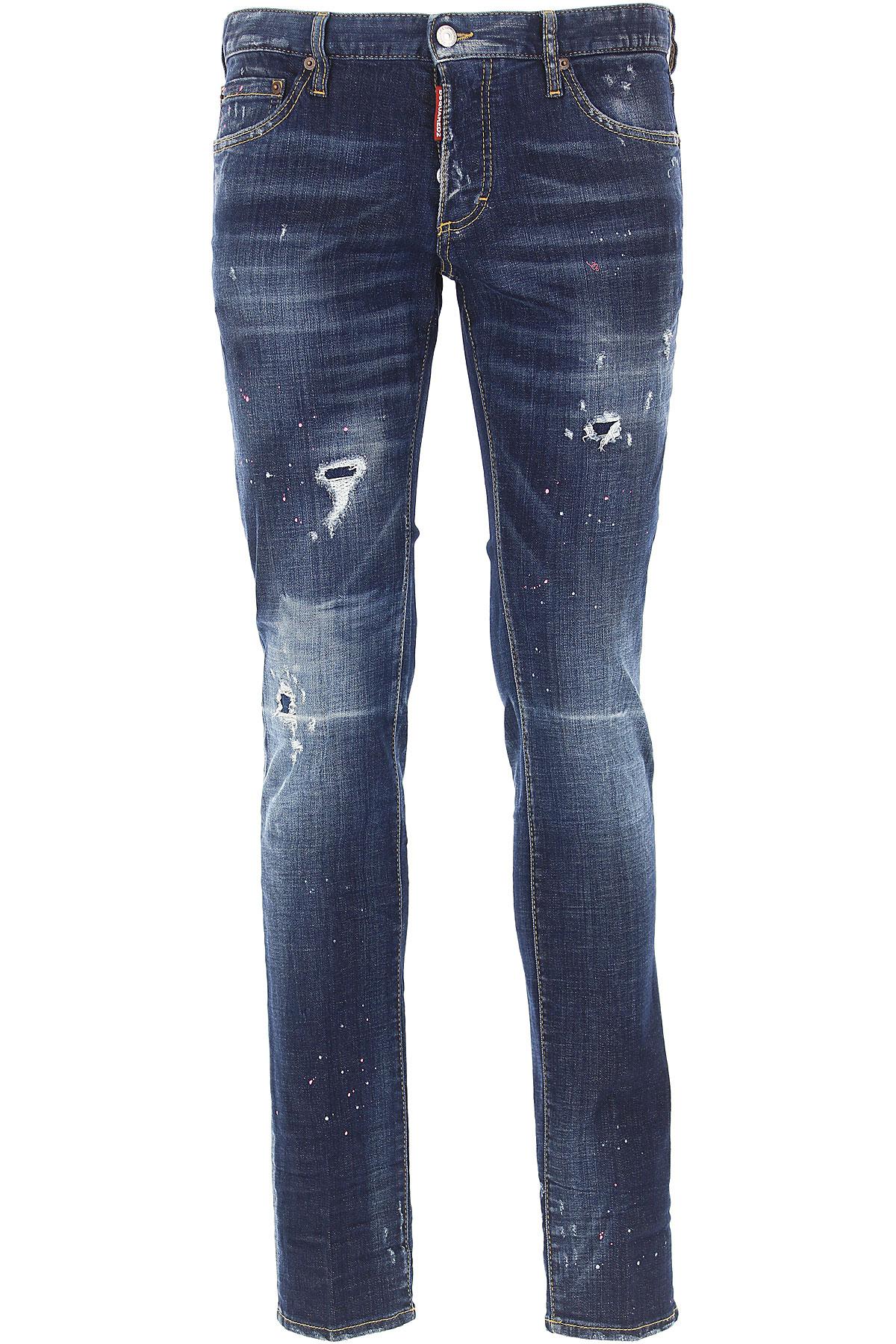 Dsquared2 Jeans, Denim Blue, Cotton, 2017, 28 30 32 34 36