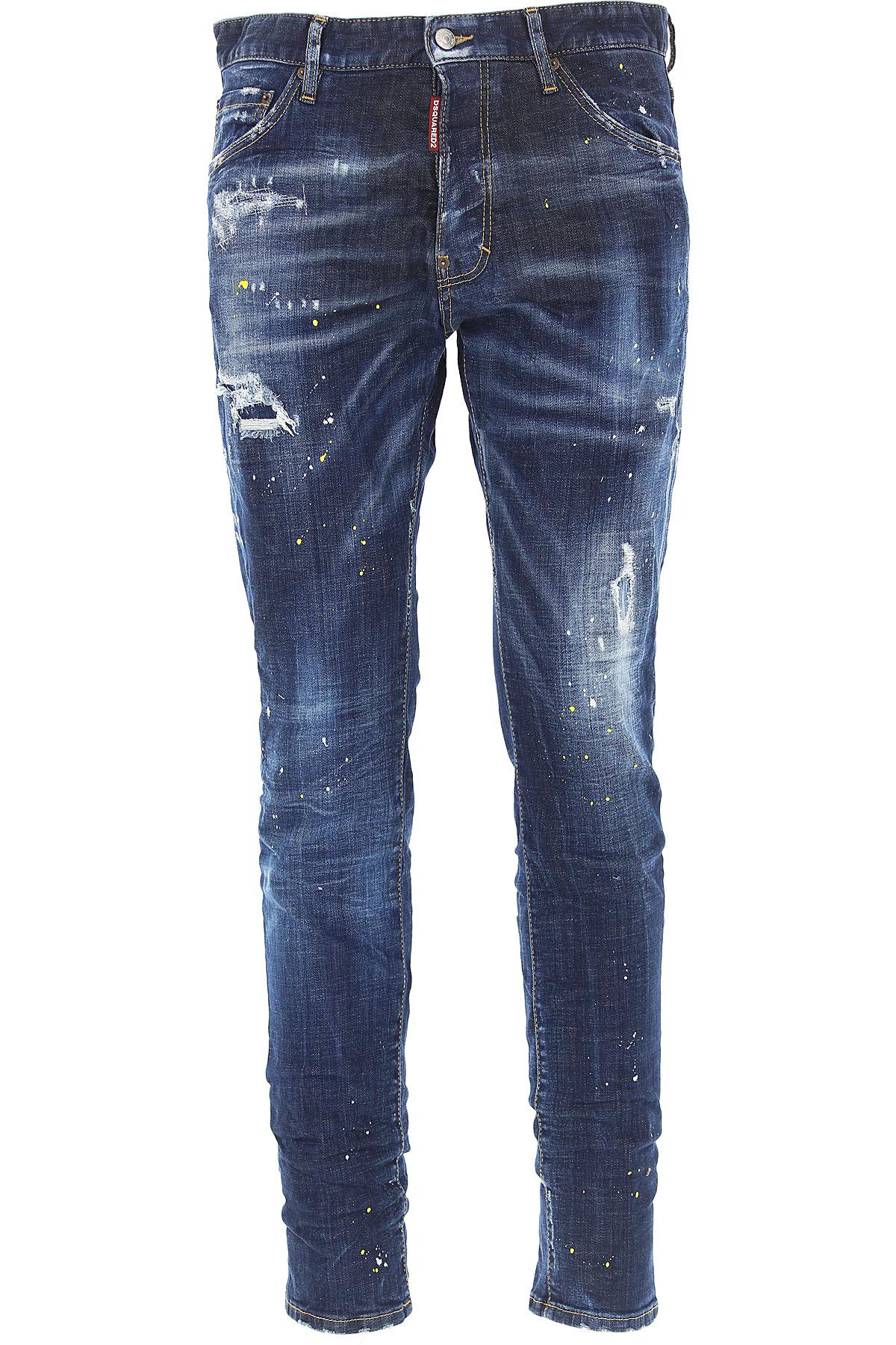 Dsquared2 Jeans, Denim Blue, Cotton, 2017, 32 34 36