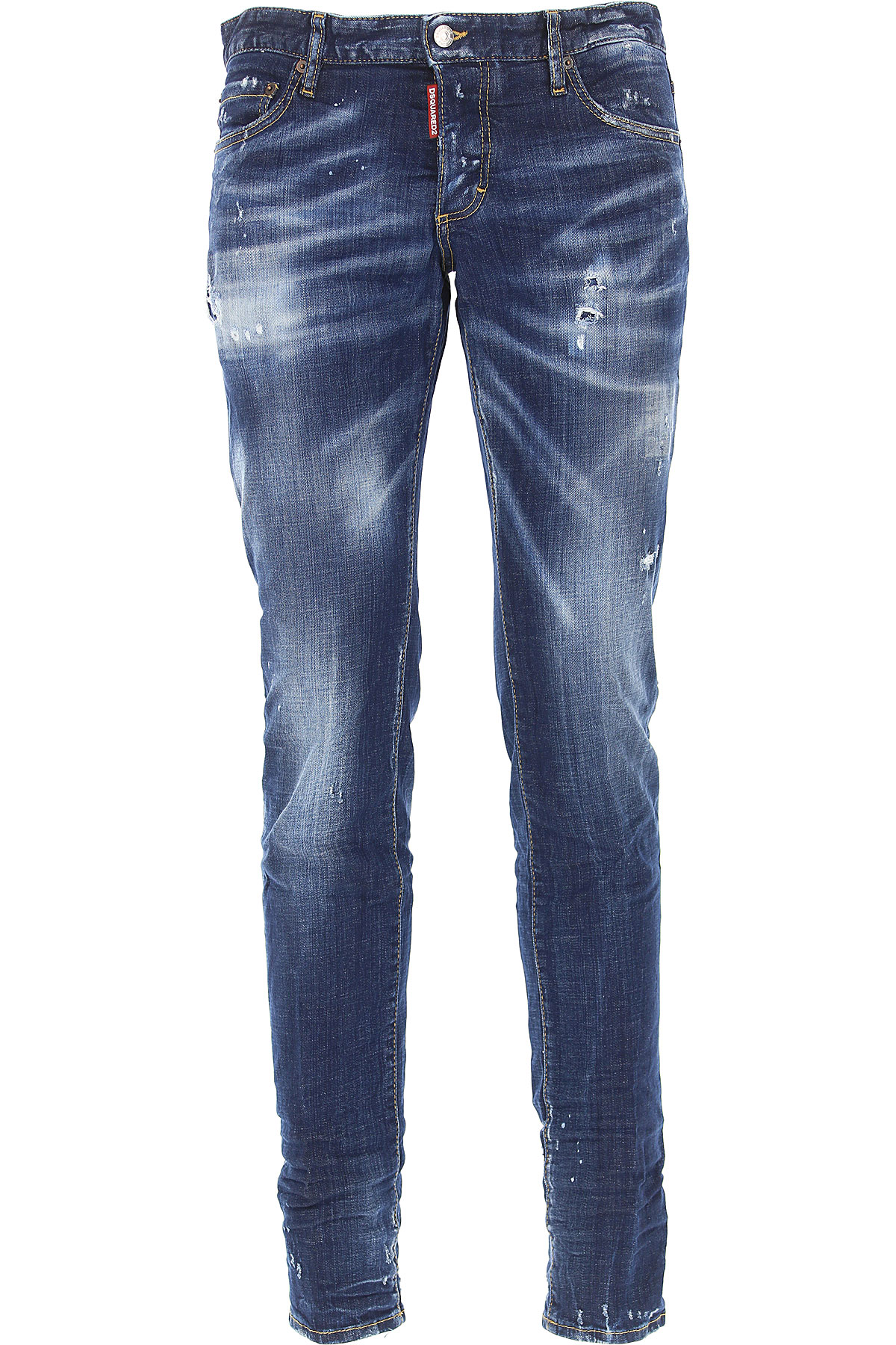 Dsquared2 Jeans, Slim Jean, Denim Blue, Cotton, 2017, 28 32 34
