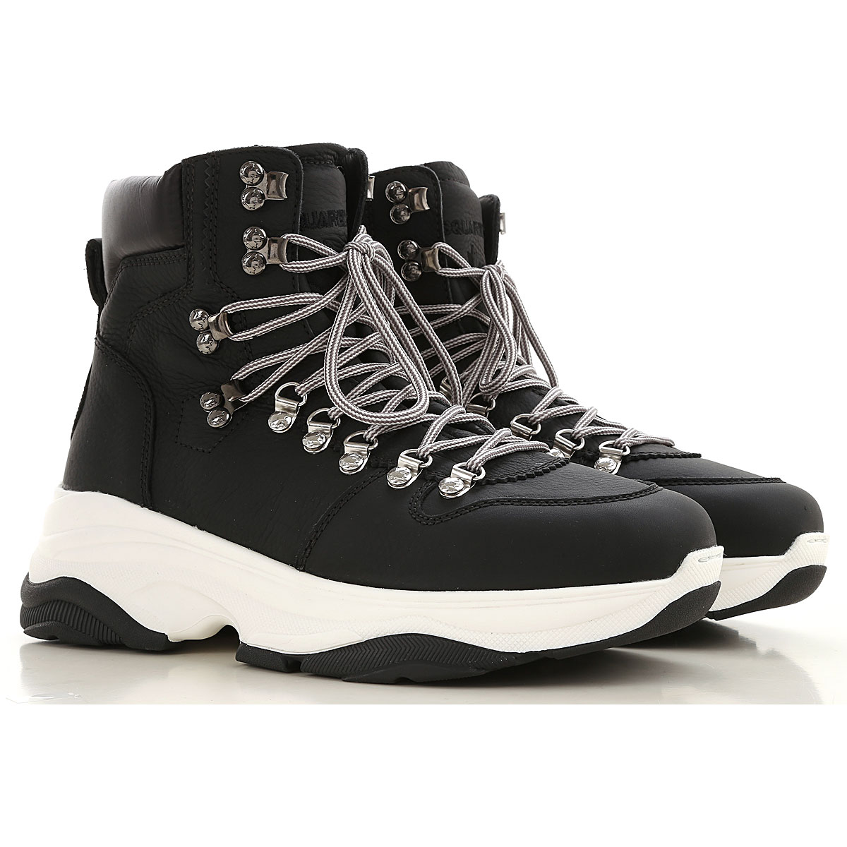 Dsquared2 Boots for Men, Booties On Sale, Black, Leather, 2019, 10.5 11.5 7.5 8 8.5 9