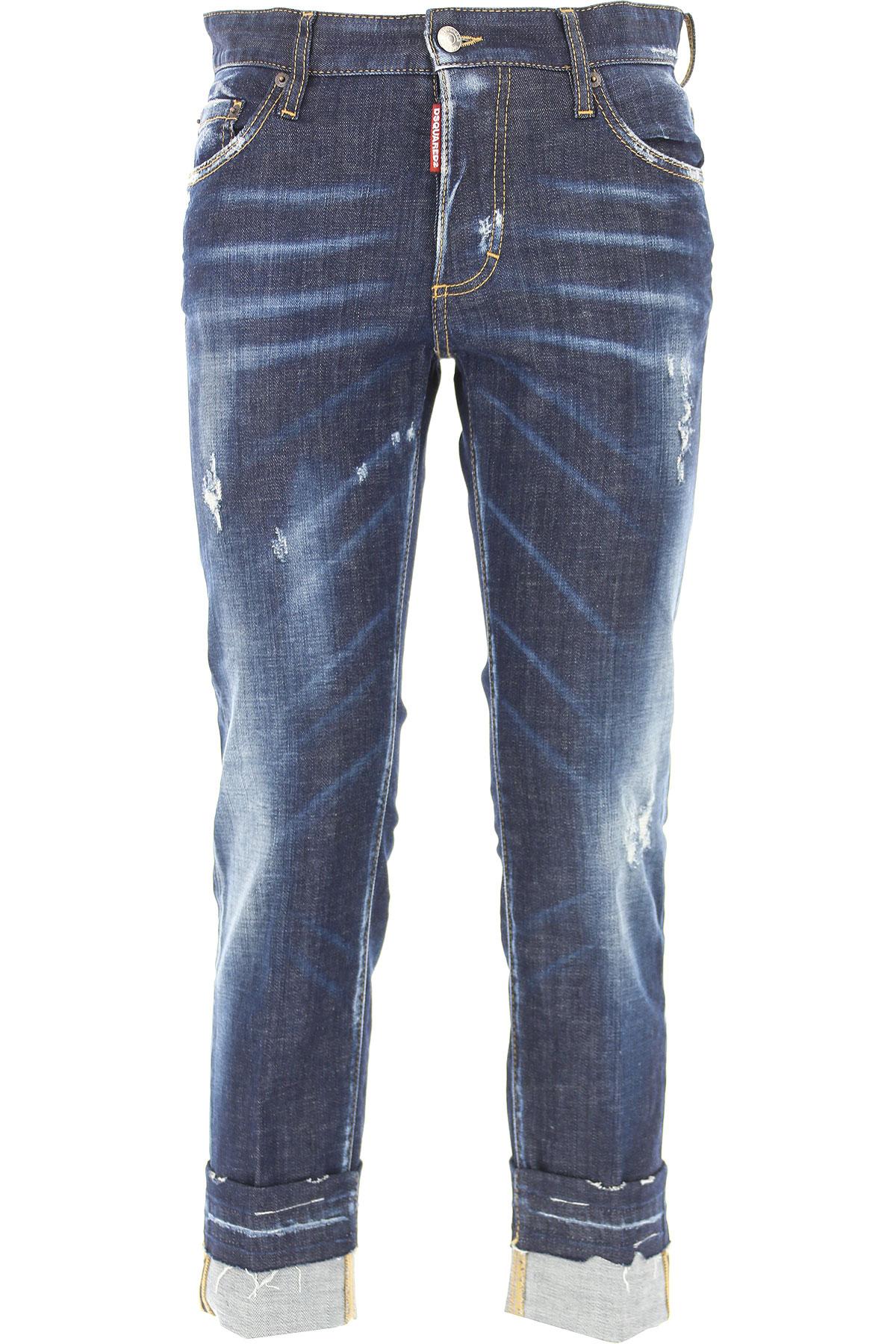 Dsquared2 Jeans On Sale, Blue Denim, Cotton, 2017, 22 24 26 28