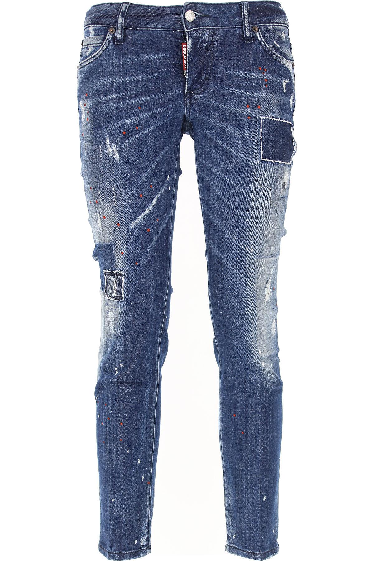 Dsquared2 Jeans On Sale, Blue Denim, Cotton, 2017, 24 26 28