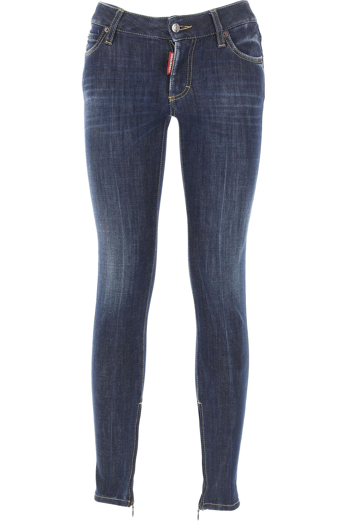 Dsquared2 Jeans On Sale, Blue Denim, Cotton, 2017, 22 26 28 34