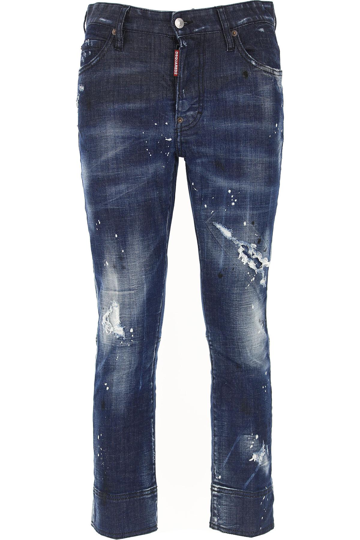 Dsquared2 Jeans On Sale, Blue Denim, Cotton, 2017, 22 24 28 30