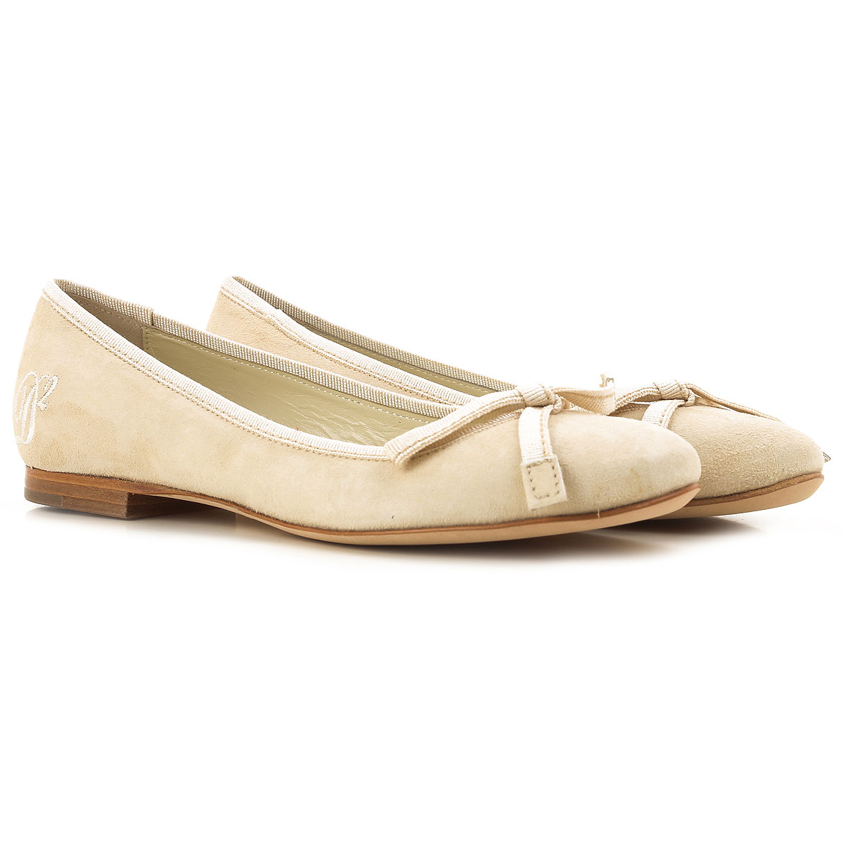 Dsquared2 Ballet Flats Ballerina Shoes for Women On Sale in Outlet, Natural, Suede leather, 2019, 5 6