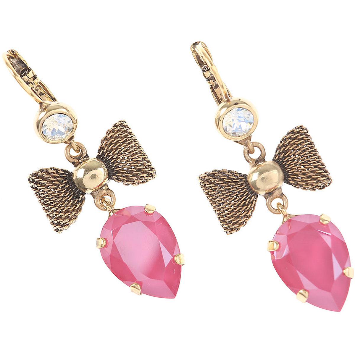 Dueci Bijoux Earrings for Women On Sale, Fuchsia, Brass, 2019