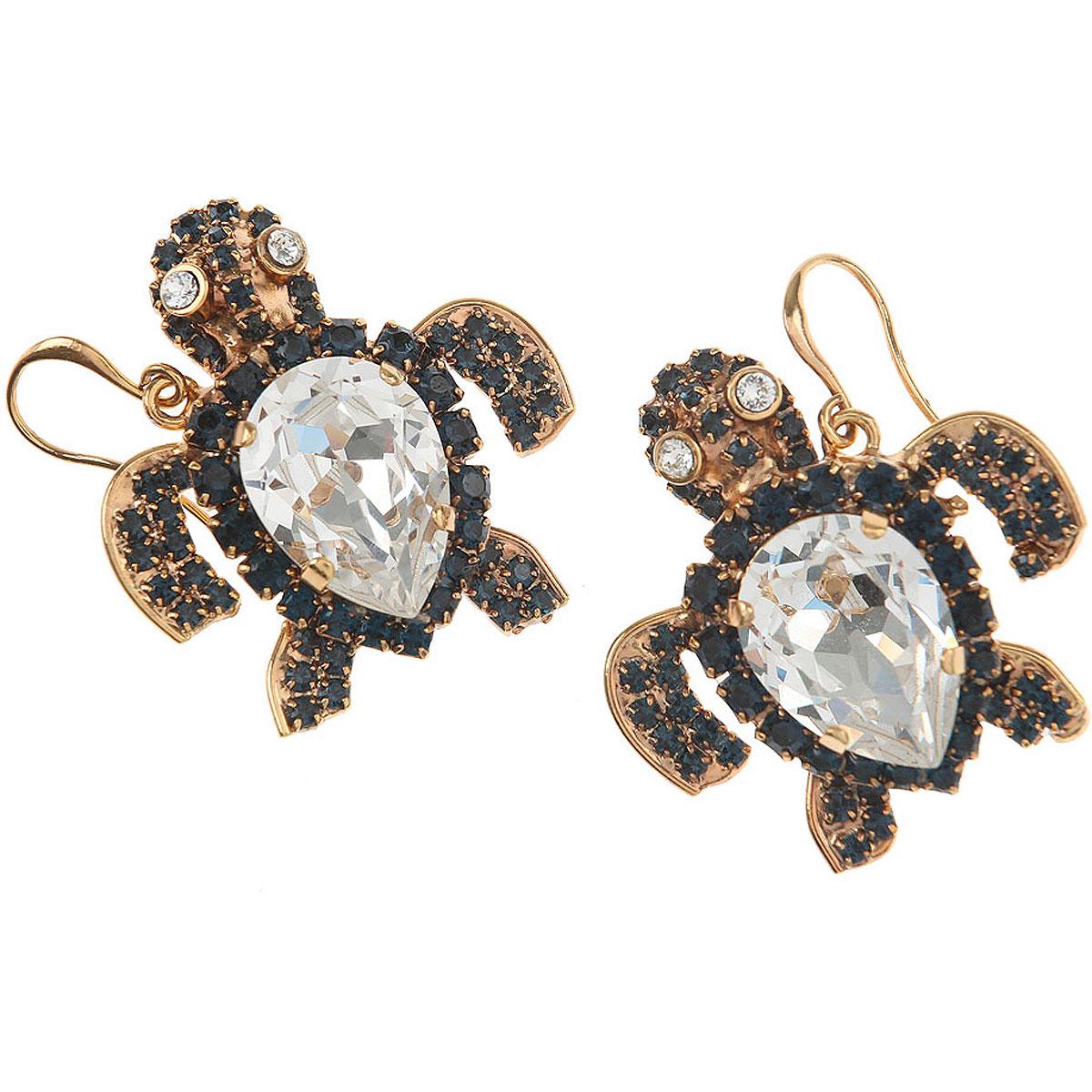 Dueci Bijoux Earrings for Women On Sale, Black, Brass, 2019