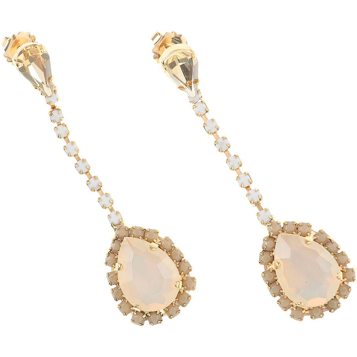 Dueci Bijoux Earrings for Women On Sale, Dirty White, Brass, 2019