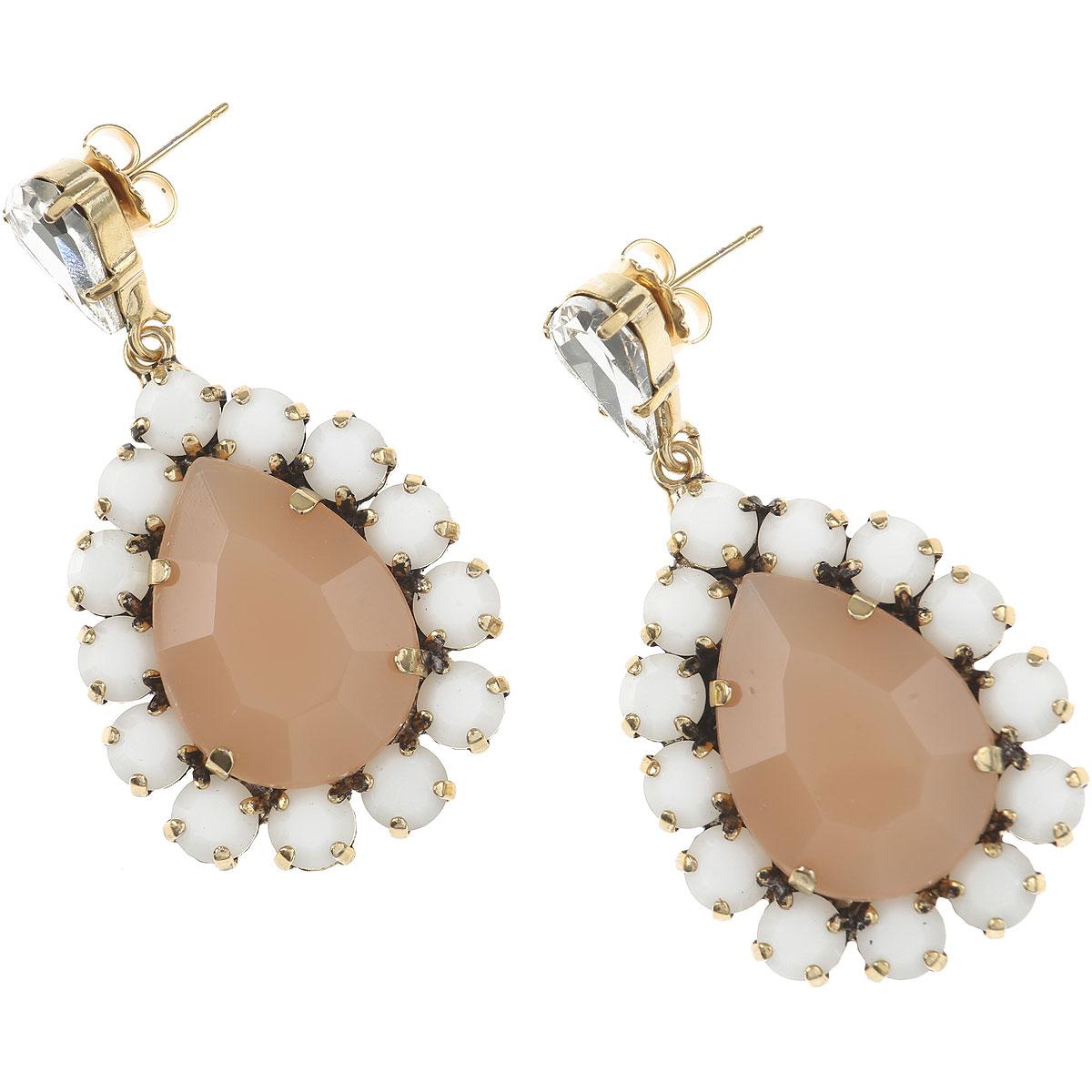 Dueci Bijoux Earrings for Women On Sale, Pink, Brass, 2019