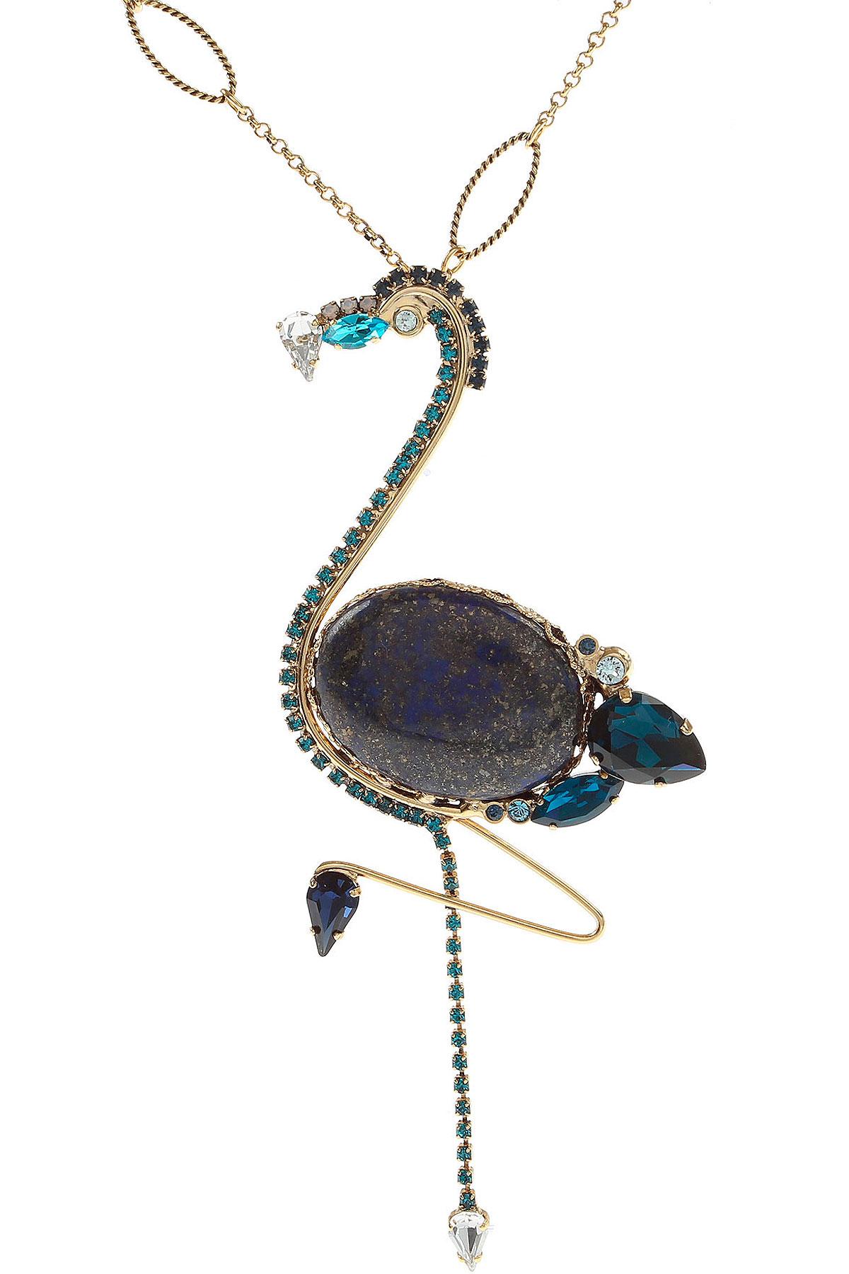 Dueci Bijoux Necklaces On Sale, Blue, Brass, 2019