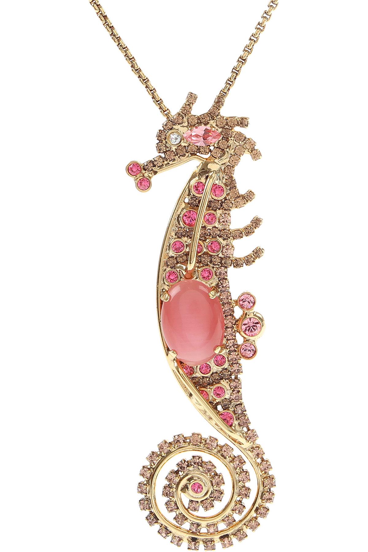 Dueci Bijoux Necklaces On Sale, Pink, Brass, 2019