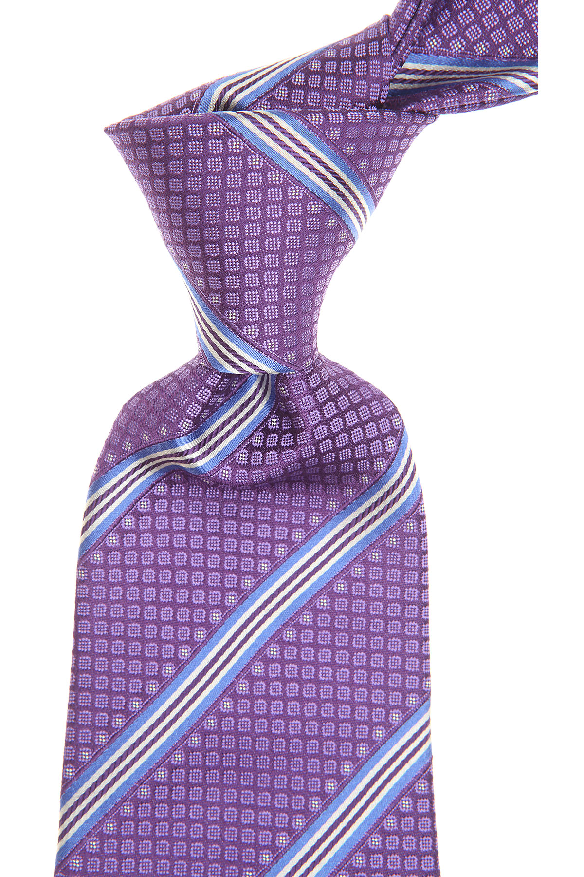 S.T. Dupont Ties On Sale, Violet, Silk, 2019