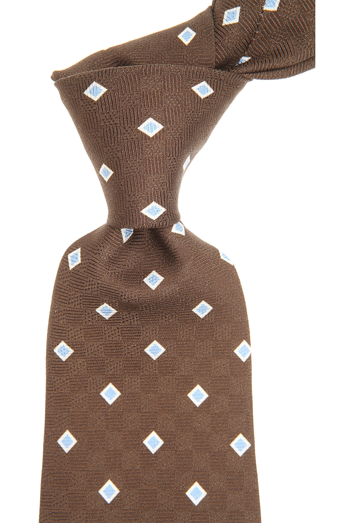 S.T. Dupont Ties On Sale, Chocolate Brown, Silk, 2019