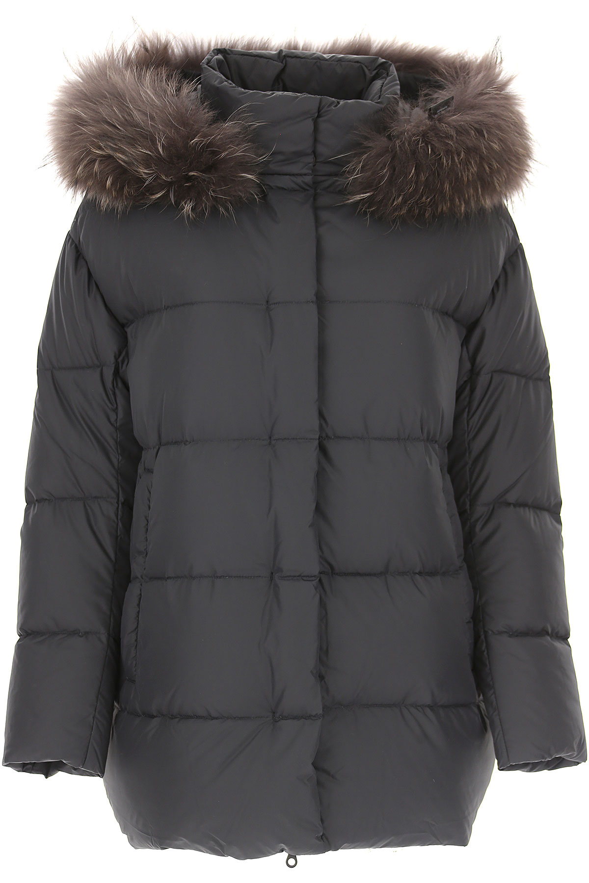 Image of Duvetica Down Jacket for Women, Puffer Ski Jacket, Black, polyamide, 2017, 6 8