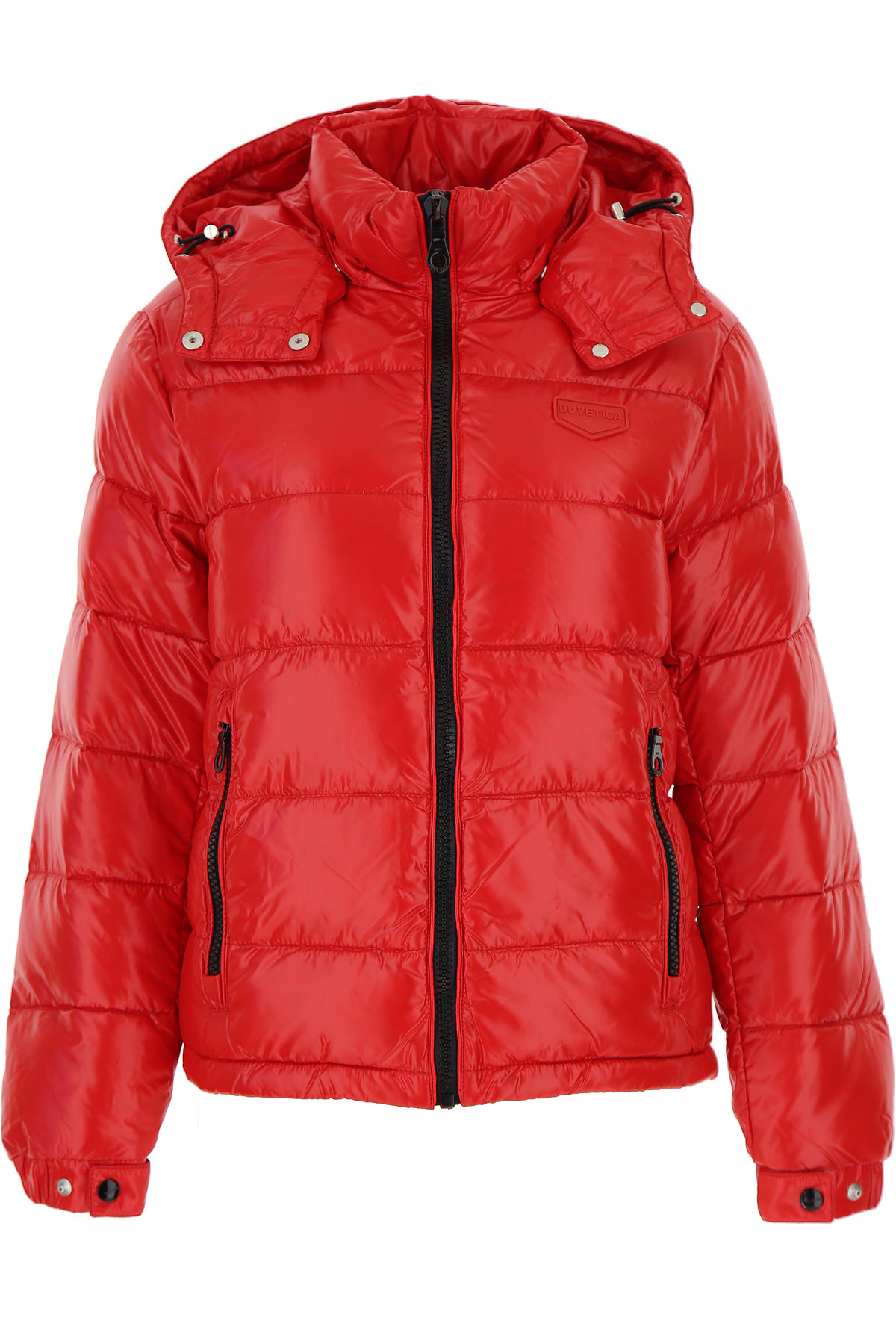 Duvetica Down Jacket for Women, Puffer Ski Jacket On Sale, Scarlet Red, Down, 2019, 4 6