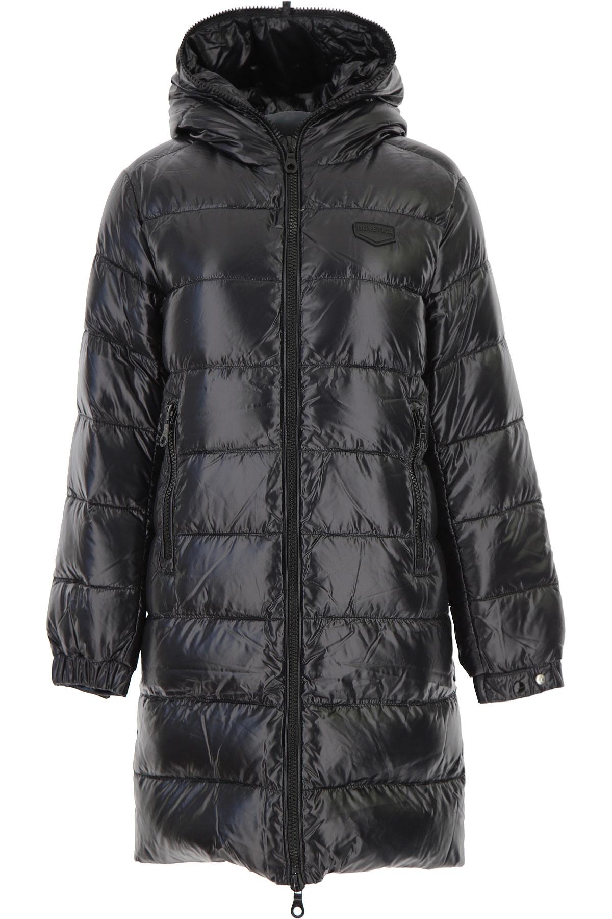 Duvetica Down Jacket for Women, Puffer Ski Jacket On Sale, Black, Down, 2019, 2 4 8