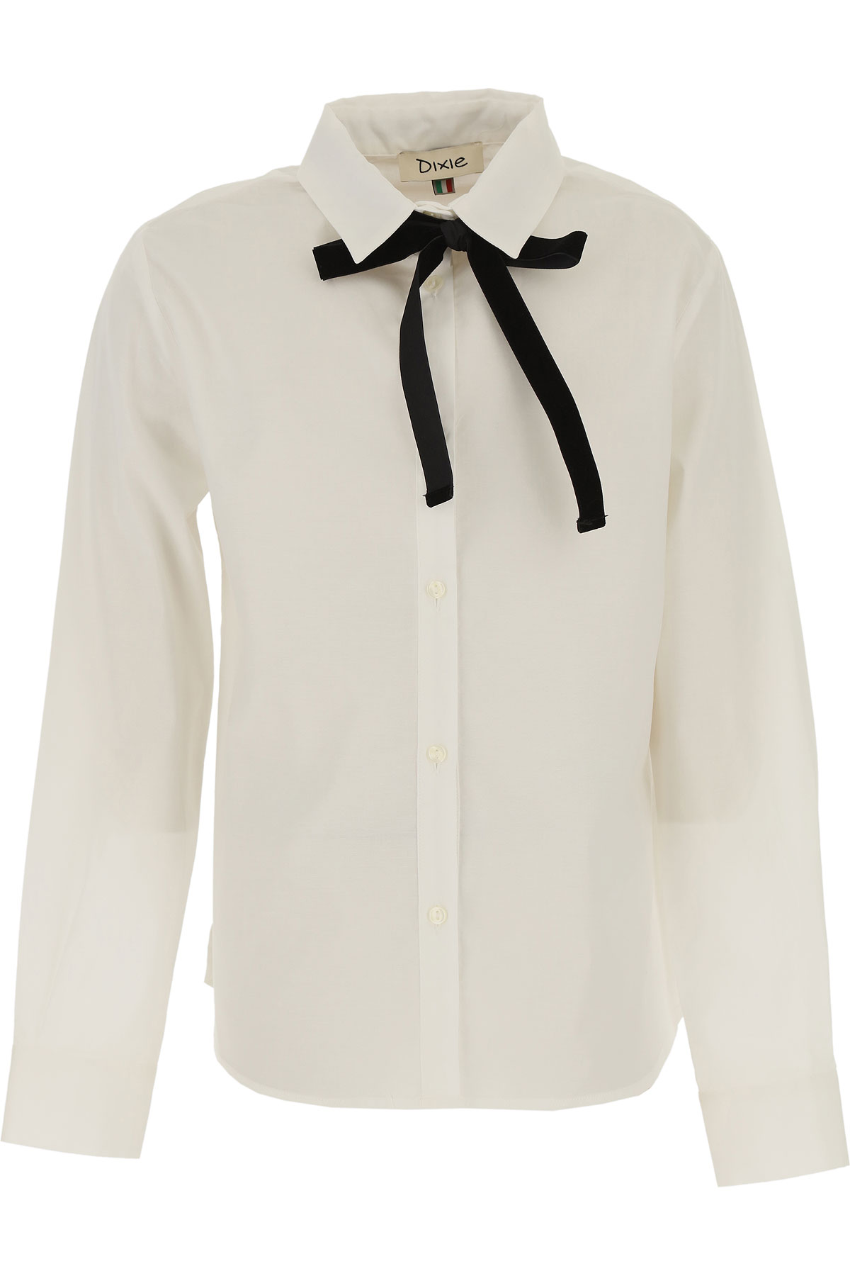 Dixie Kids Shirts for Girls On Sale, White, Cotton, 2019, M