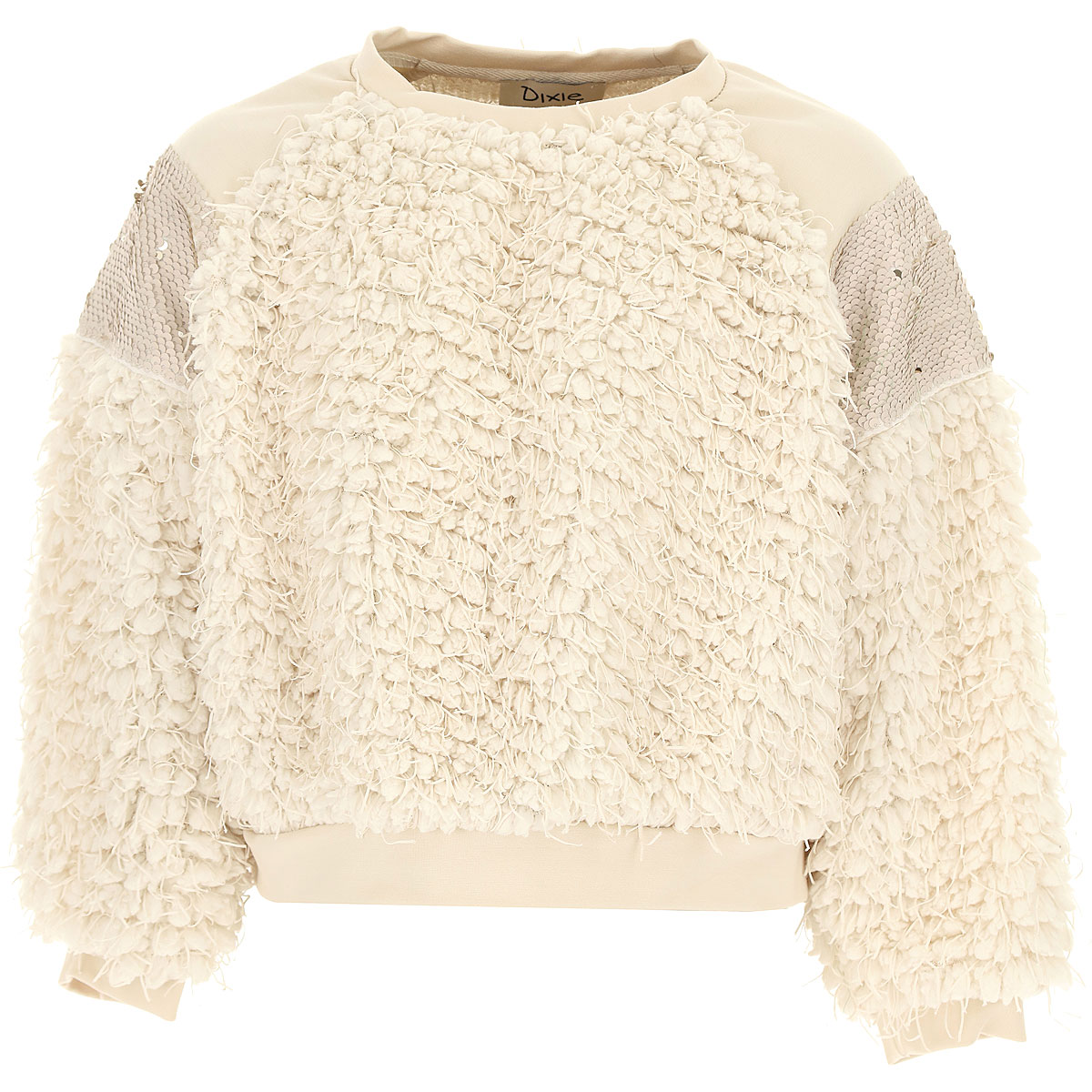 Dixie Kids Sweaters for Girls On Sale, Milk, polyester, 2019, L M XL