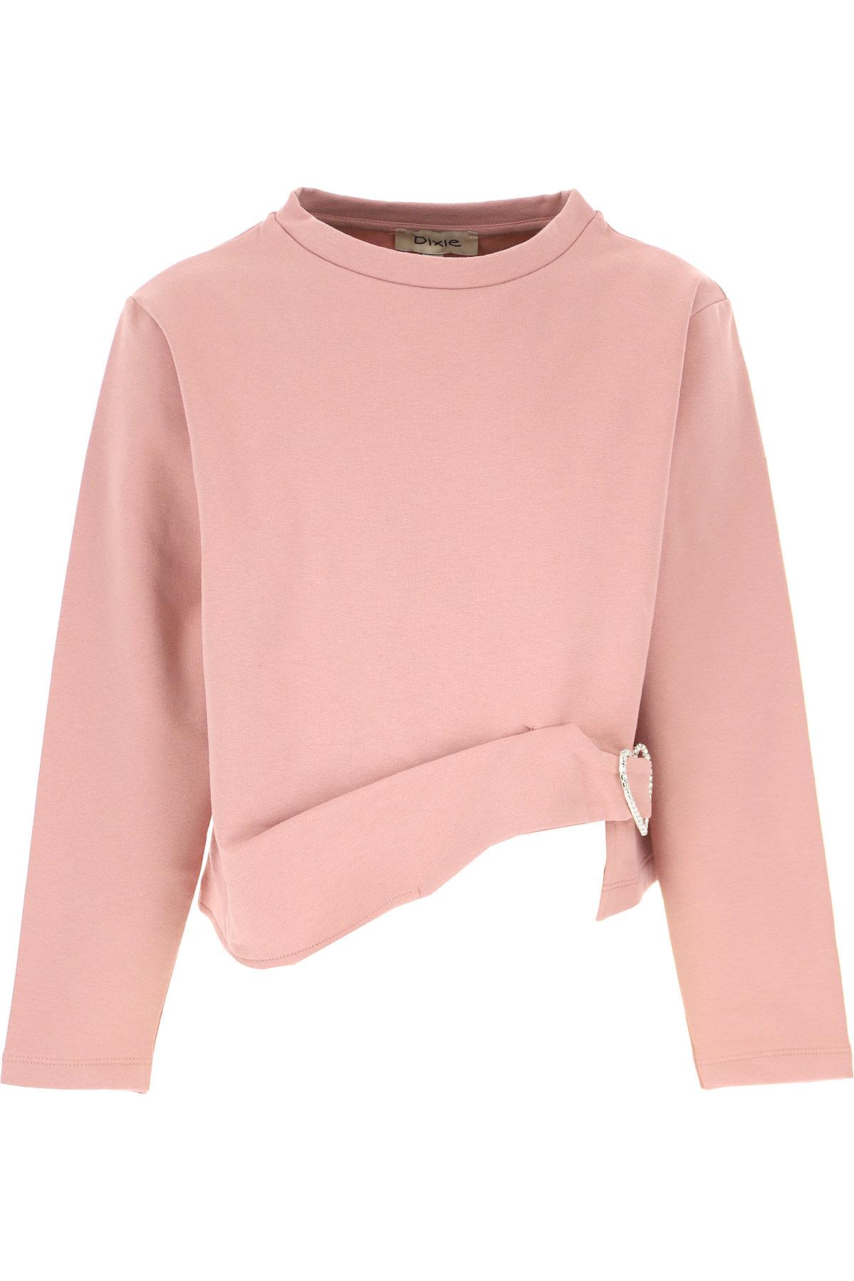 Dixie Kids Sweatshirts & Hoodies for Girls On Sale, Antique Rose, Cotton, 2019, L M XL XXL