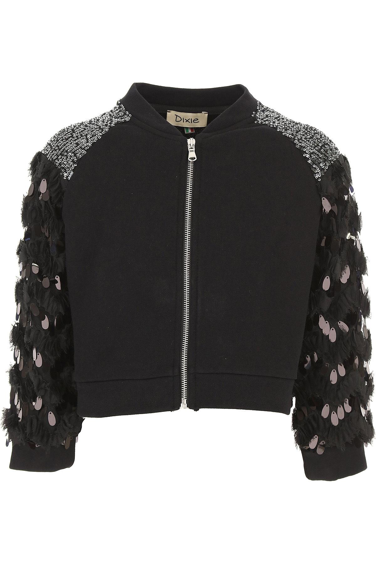 Dixie Kids Sweatshirts & Hoodies for Girls On Sale, Black, Cotton, 2019, M S XL XS