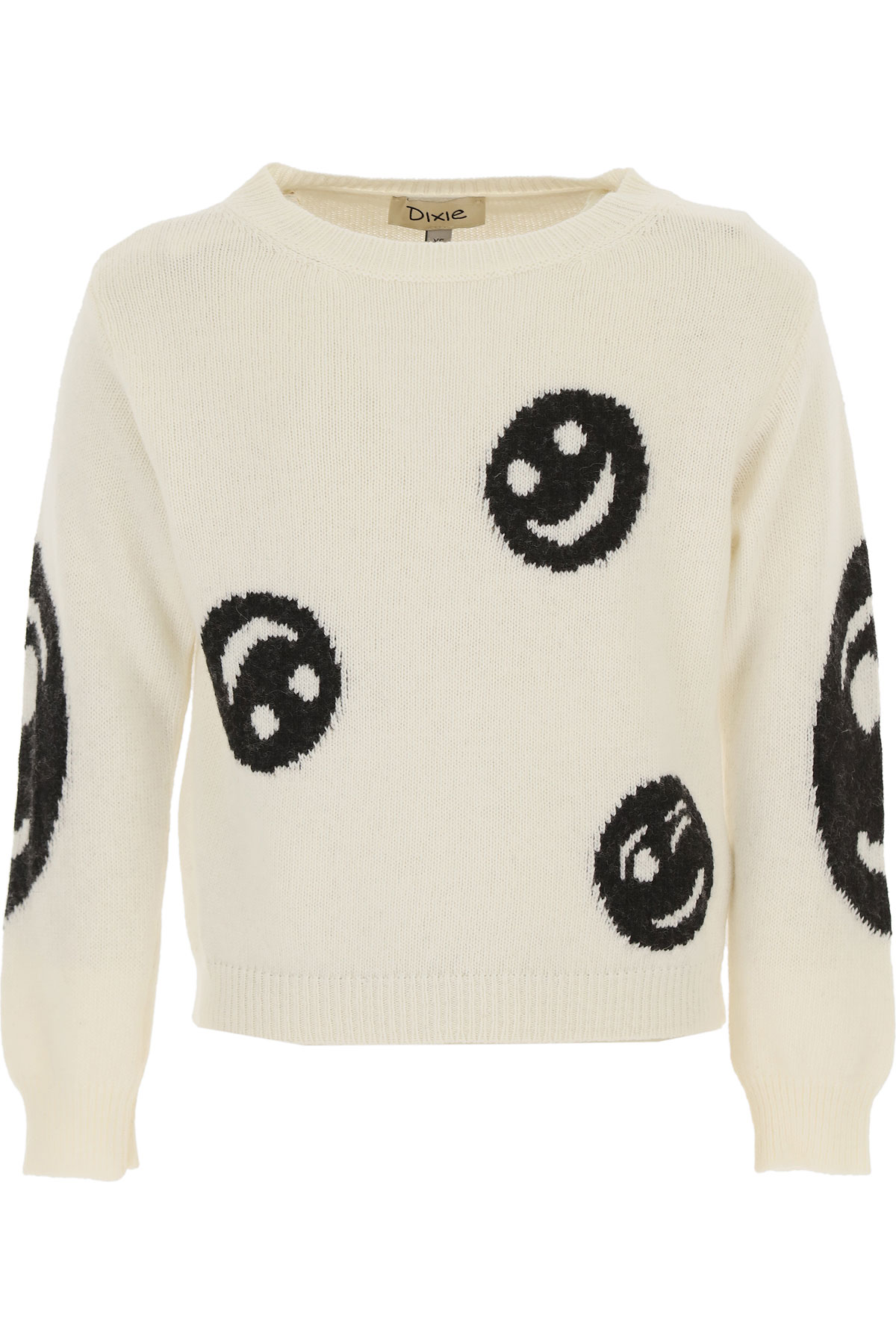 Dixie Kids Sweaters for Girls On Sale, White, polyamide, 2019, L M S XS