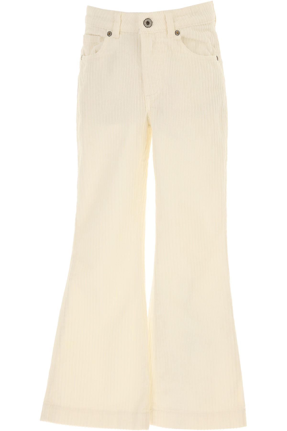 Dixie Kids Pants for Girls On Sale, White, Cotton, 2019, L M XL XXL