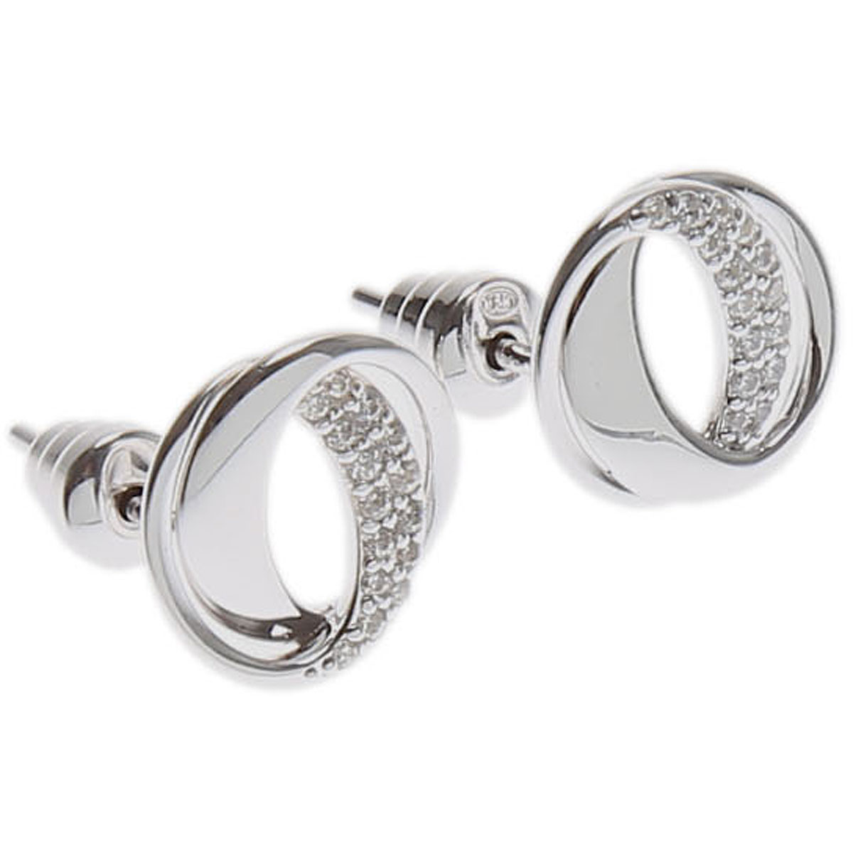 Image of Emporio Armani Earrings for Women On Sale, Silver, Sterling Silver, 2017