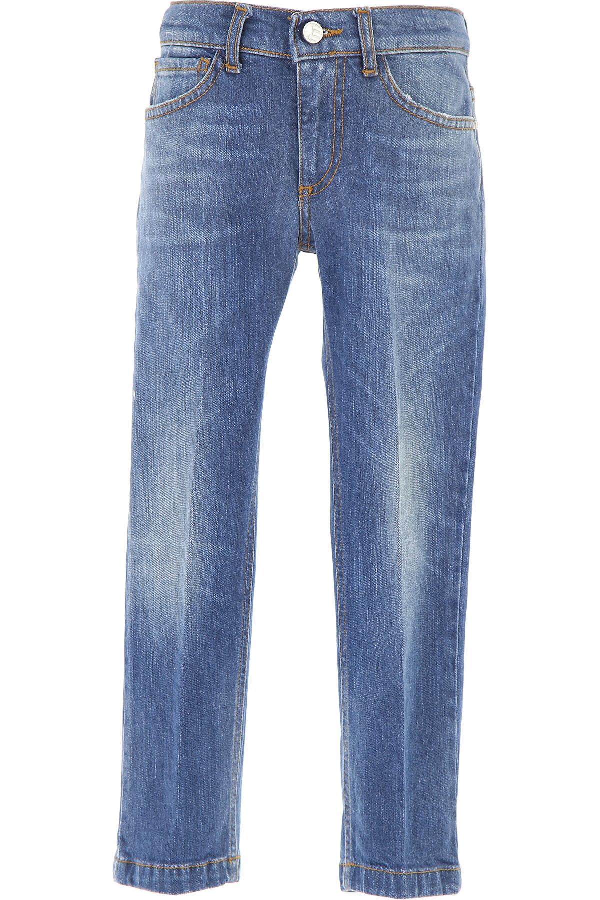 Image of Entre Amis Kids Jeans for Boys, Blue Denim, Cotton, 2017, 10Y 6Y