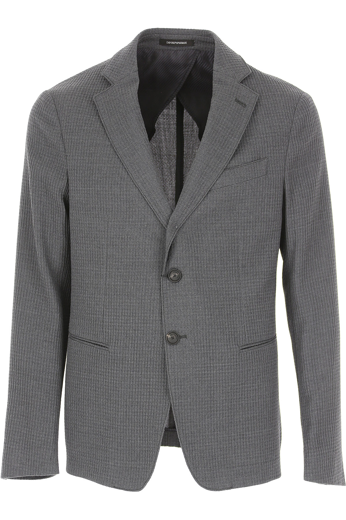 Emporio Armani Blazer for Men, Sport Coat, Dark Anthracite Grey, Virgin wool, 2017, L M S XL XXL XXXL USA-466600