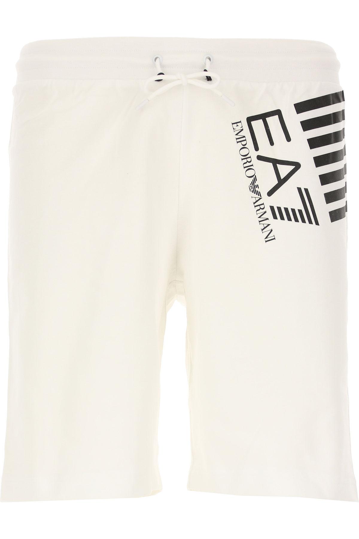 Emporio Armani Short Homme Pas Cher En Soldes, Blanc, Coton, 2019, L M S XL