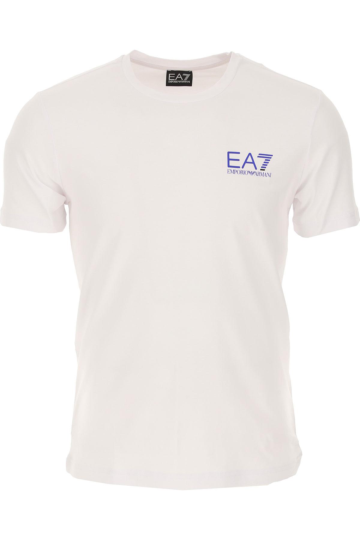 Emporio Armani T-shirt Homme Pas Cher En Soldes, Blanc, Coton, 2019, L S XL XXL