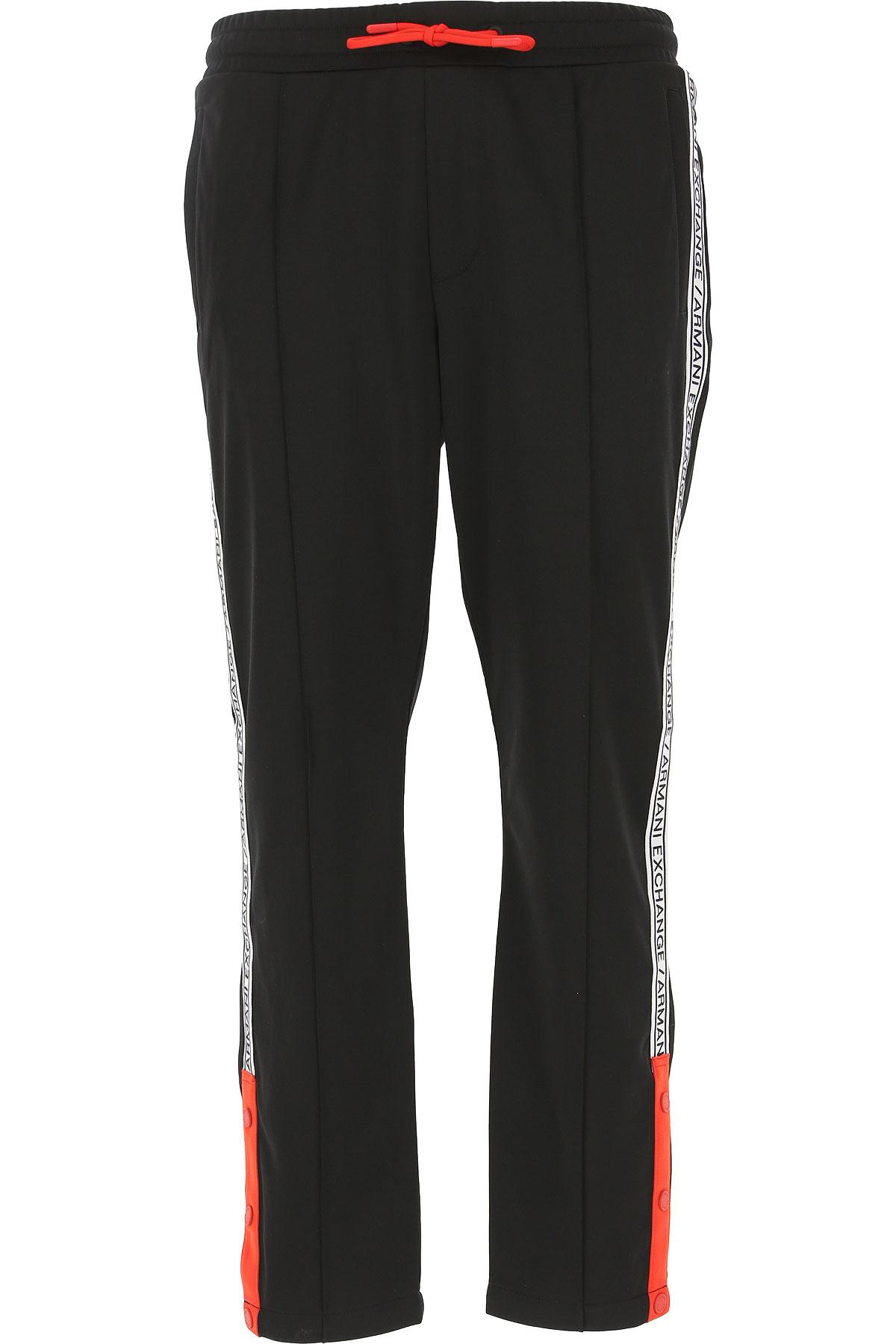 Emporio Armani Vêtement Homme Pour Entraînement De Gym Et Jogging Pas Cher En Soldes, Noir, Polyester, 2019, M S