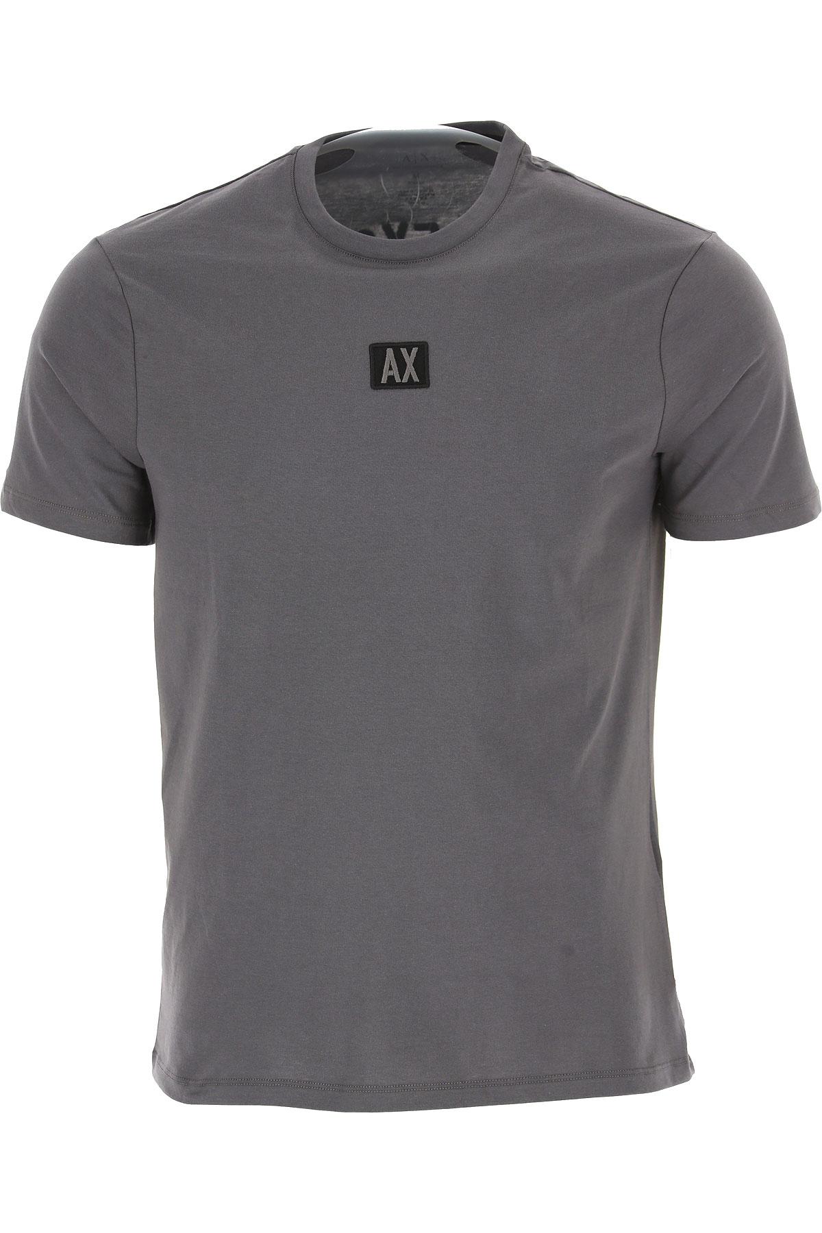 Emporio Armani T-shirt Homme Pas Cher En Soldes, Gris Aimant, Coton, 2019, L M S XL
