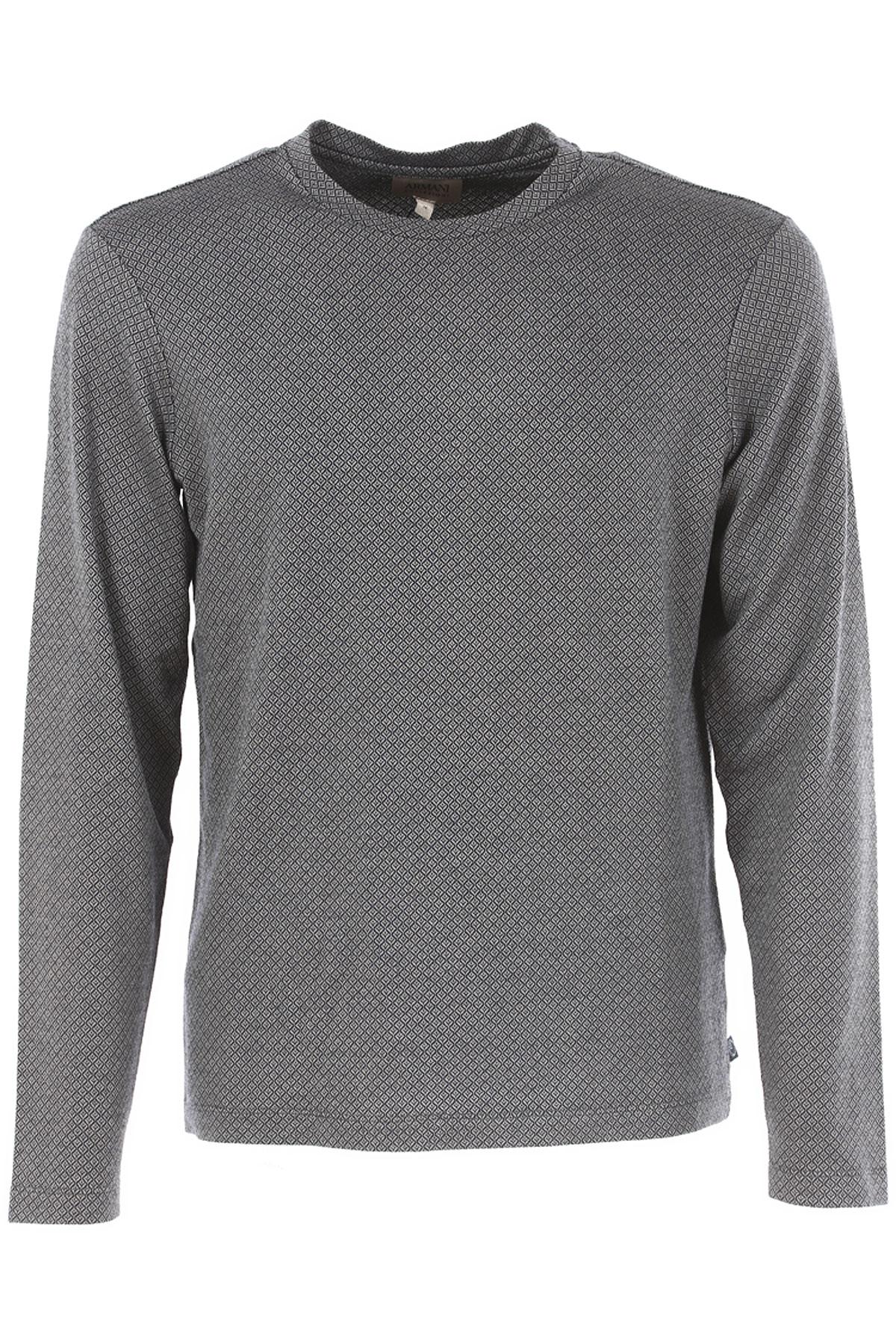 Emporio Armani T-Shirt for Men On Sale, Grey, Viscose, 2017, L M S XL XXL XXXL USA-385500