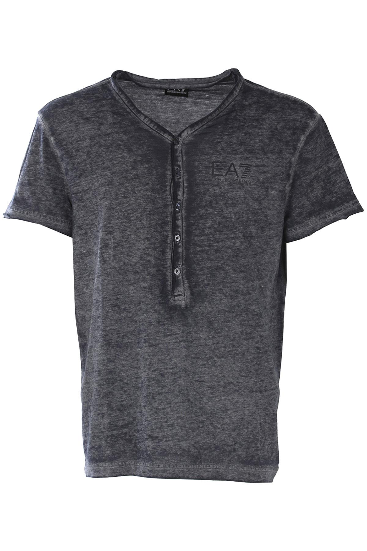 Emporio Armani T-shirt Homme, Bleu nuit, Polyester, 2017, L M S