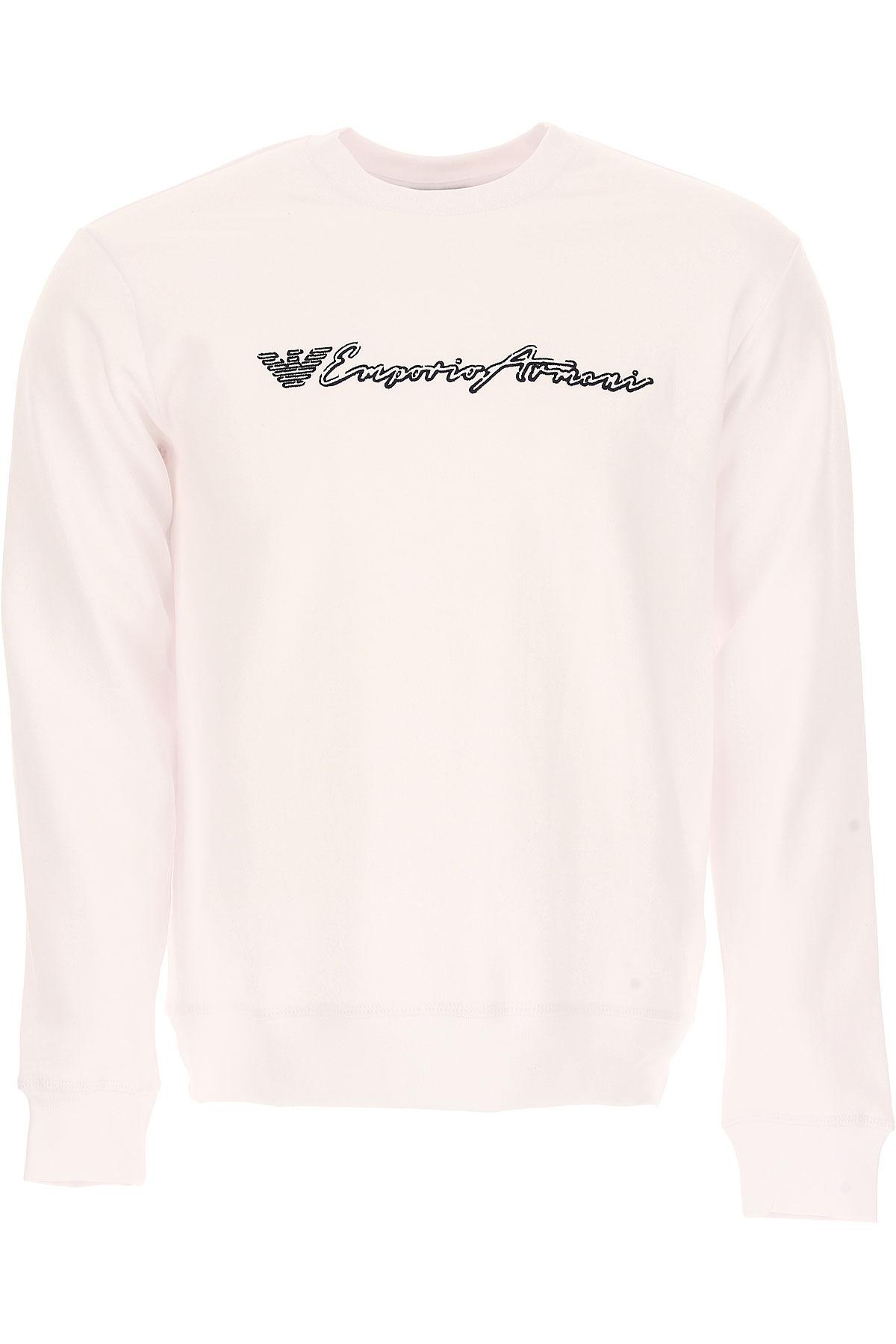 Emporio Armani Sweatshirt for Men, White, Cotton, 2017, L M S XL XXL USA-438594