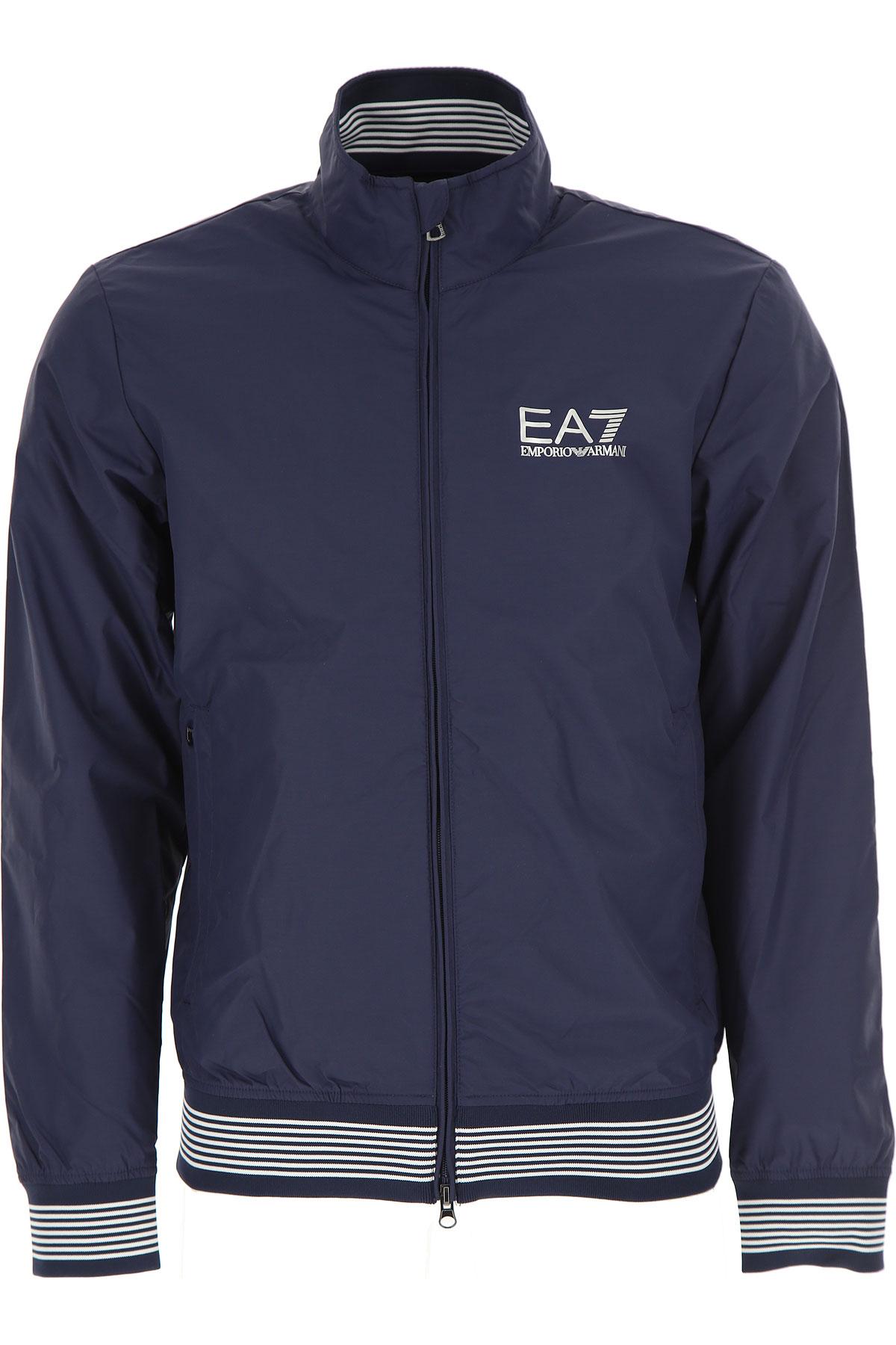 Emporio Armani Jacket for Men On Sale, Blue Navy, polyamide, 2017, L M XL XXL USA-449823