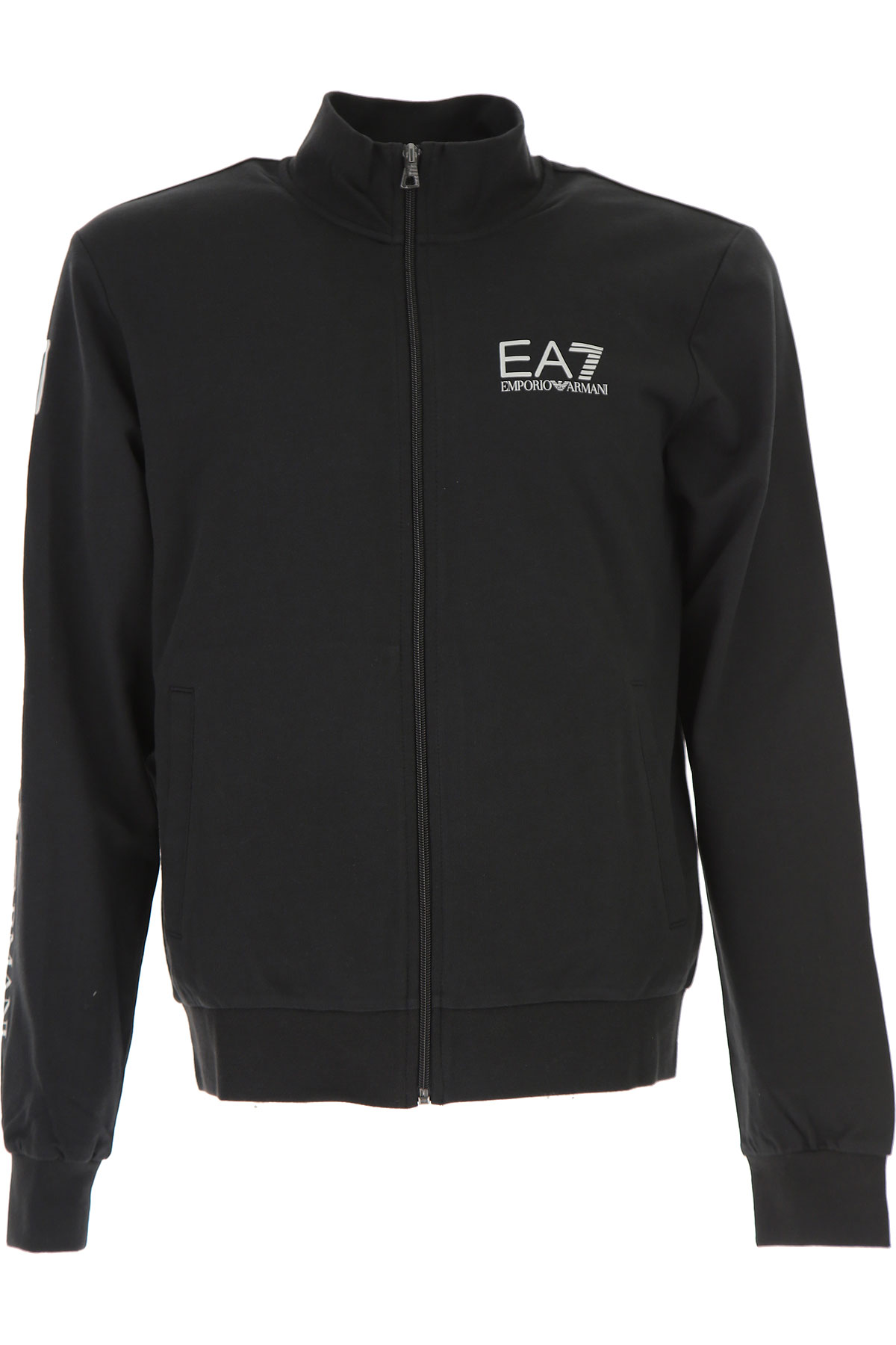 Emporio Armani Sweatshirt for Men On Sale, Black, Cotton, 2017, XL XXL USA-460207