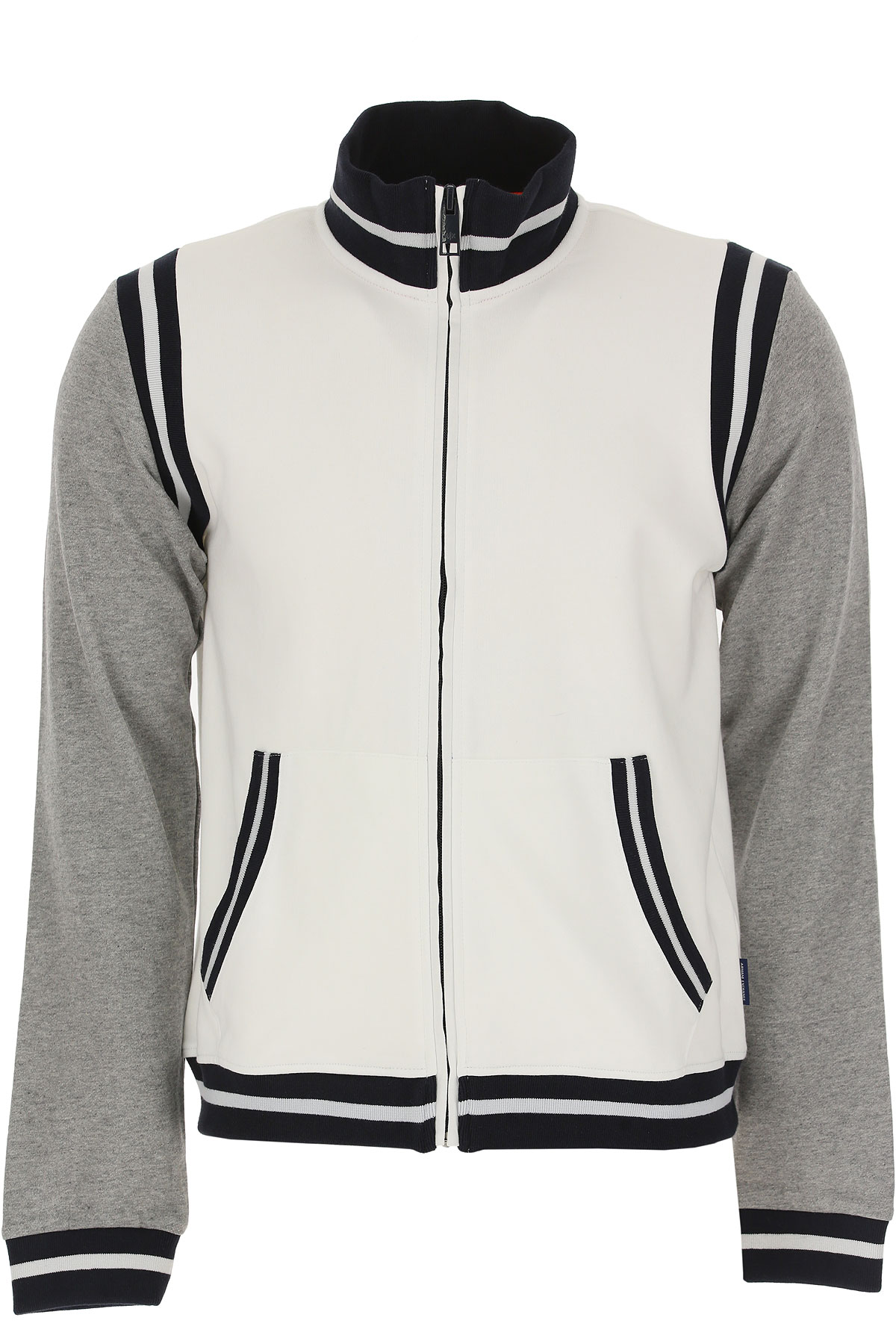Emporio Armani Sweatshirt for Men On Sale, White, Cotton, 2017, L S XL USA-464118