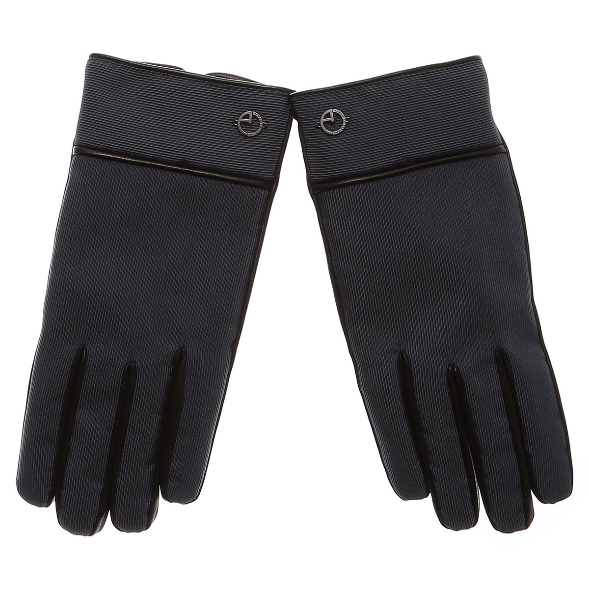 Image of Emporio Armani Gloves for Men On Sale in Outlet, Anthracite, Leather, 2017, L M