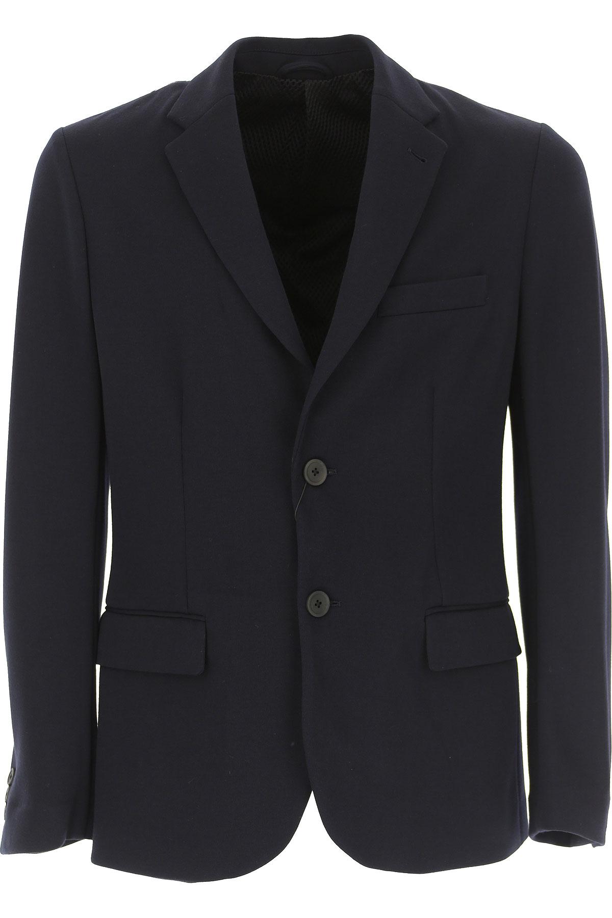 Emporio Armani Blazer for Men, Sport Coat On Sale, Navy Blue, polyester, 2019, L M