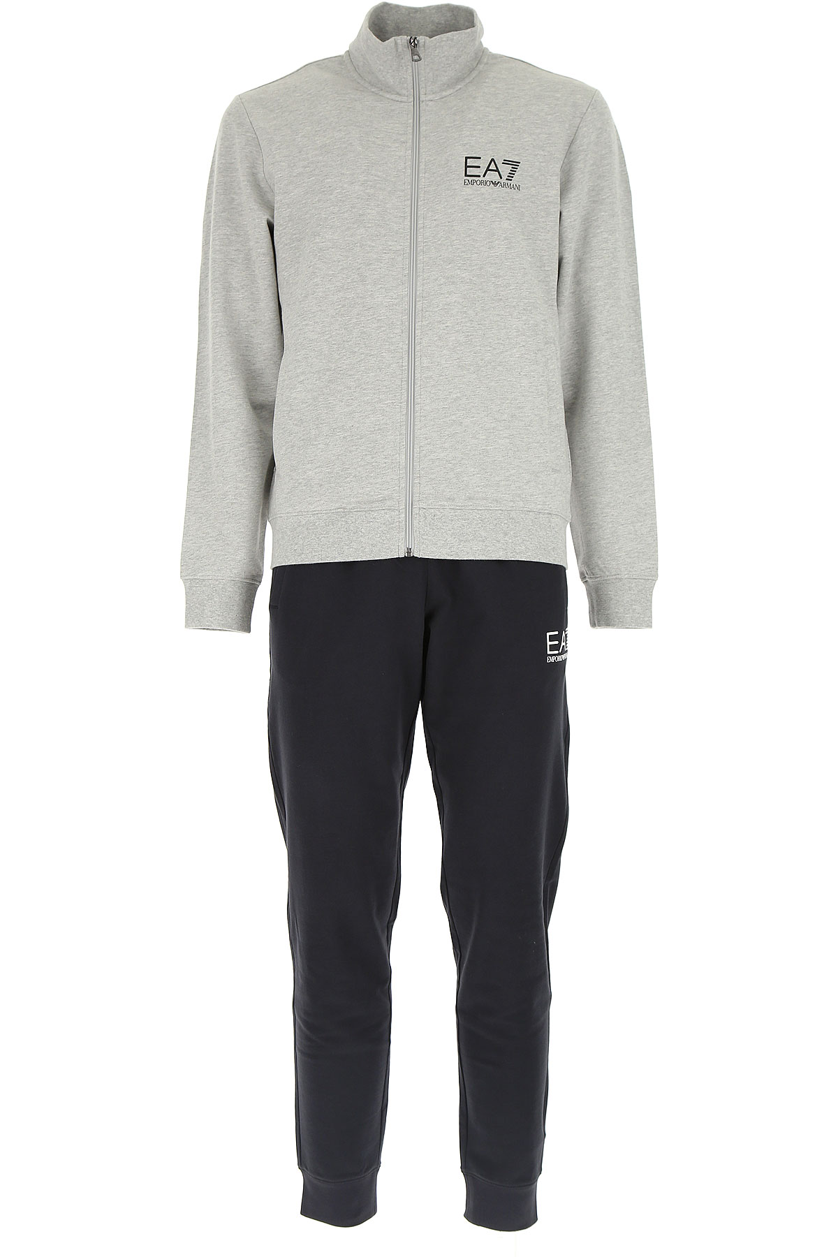 Emporio Armani Men\'s Sportswear for Gym Workouts and Running On Sale, Light Grey Melange, Cotton, 2017, L XL USA-452652