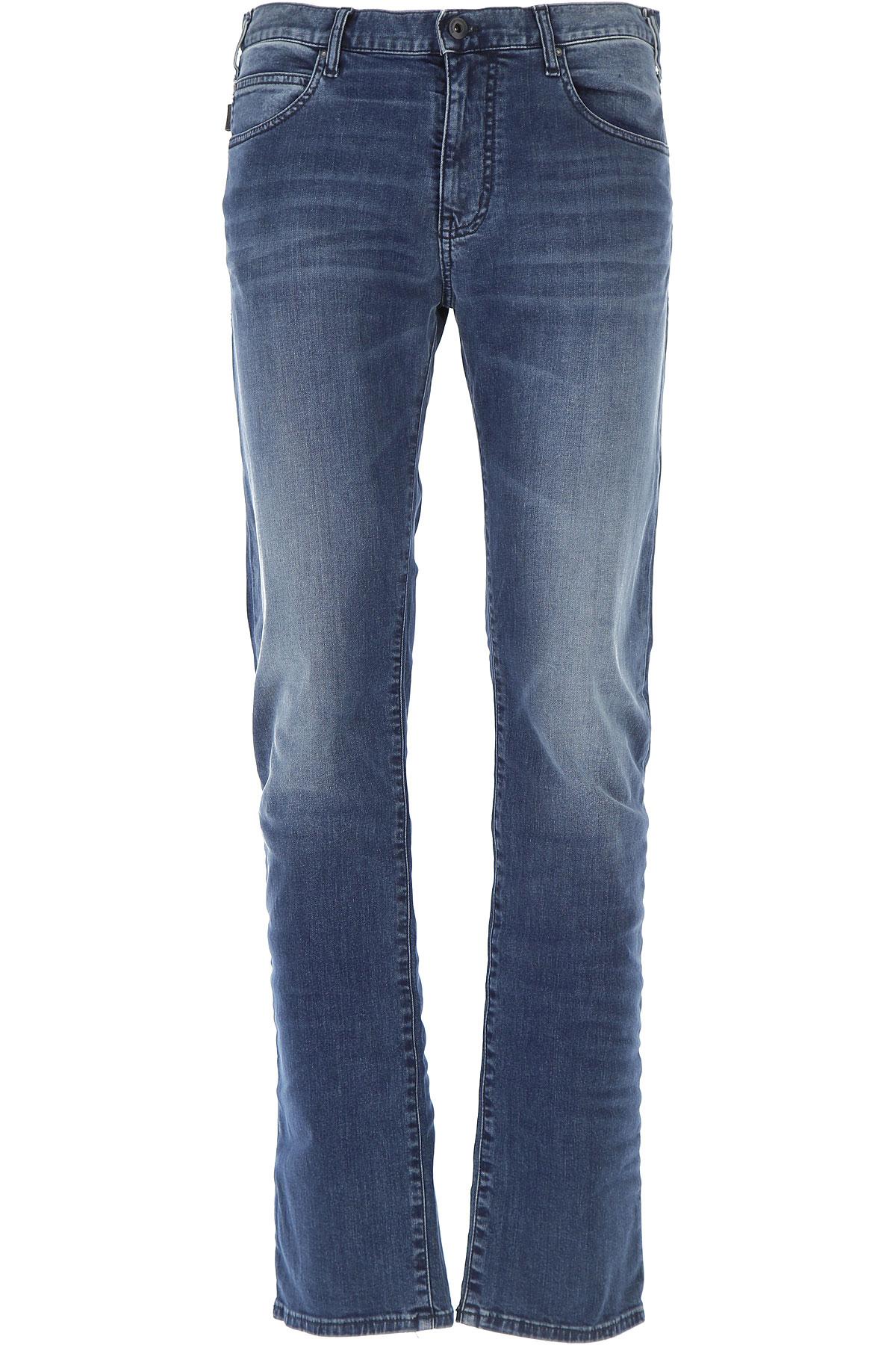 Emporio Armani Jeans On Sale, Denim Blue, Cotton, 2017, 33 36